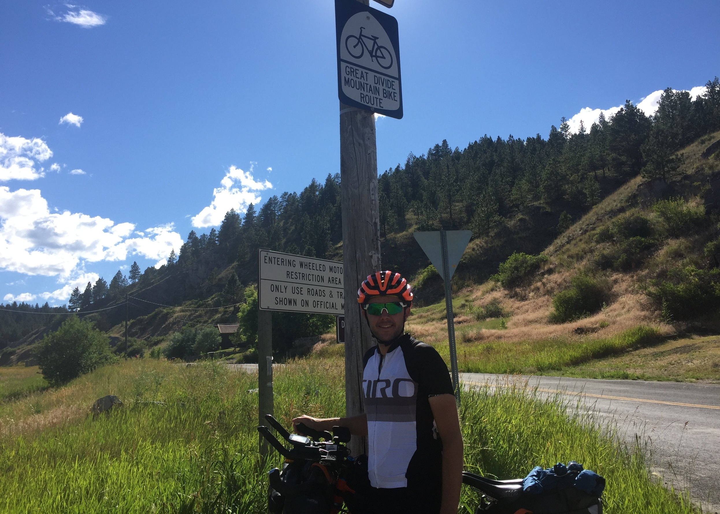 One of only two Great Divide Mountain Bike Route signs along the Tour Divide trail lives just outside of Helena.