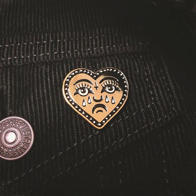 Our new LOVE SUCKS pin. For all you satan-loving hopeless-romantics out there. This pin and three bottles of wine will fix ya right up. - www.deathpatches.com.au #deathpatches #lovesucks #winewinewine #hailsatan