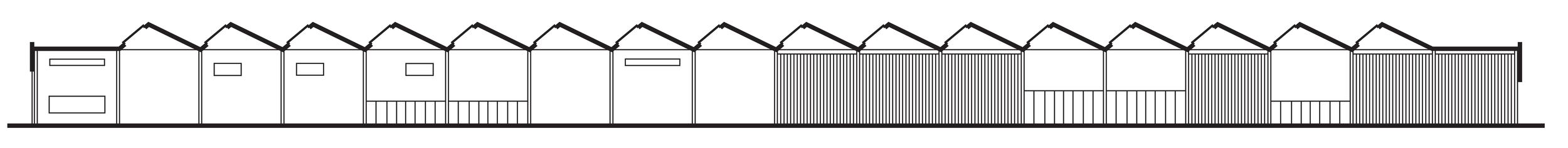 Vitsœ Headquarters, longitudinal section, architect Martin Francis, 2017