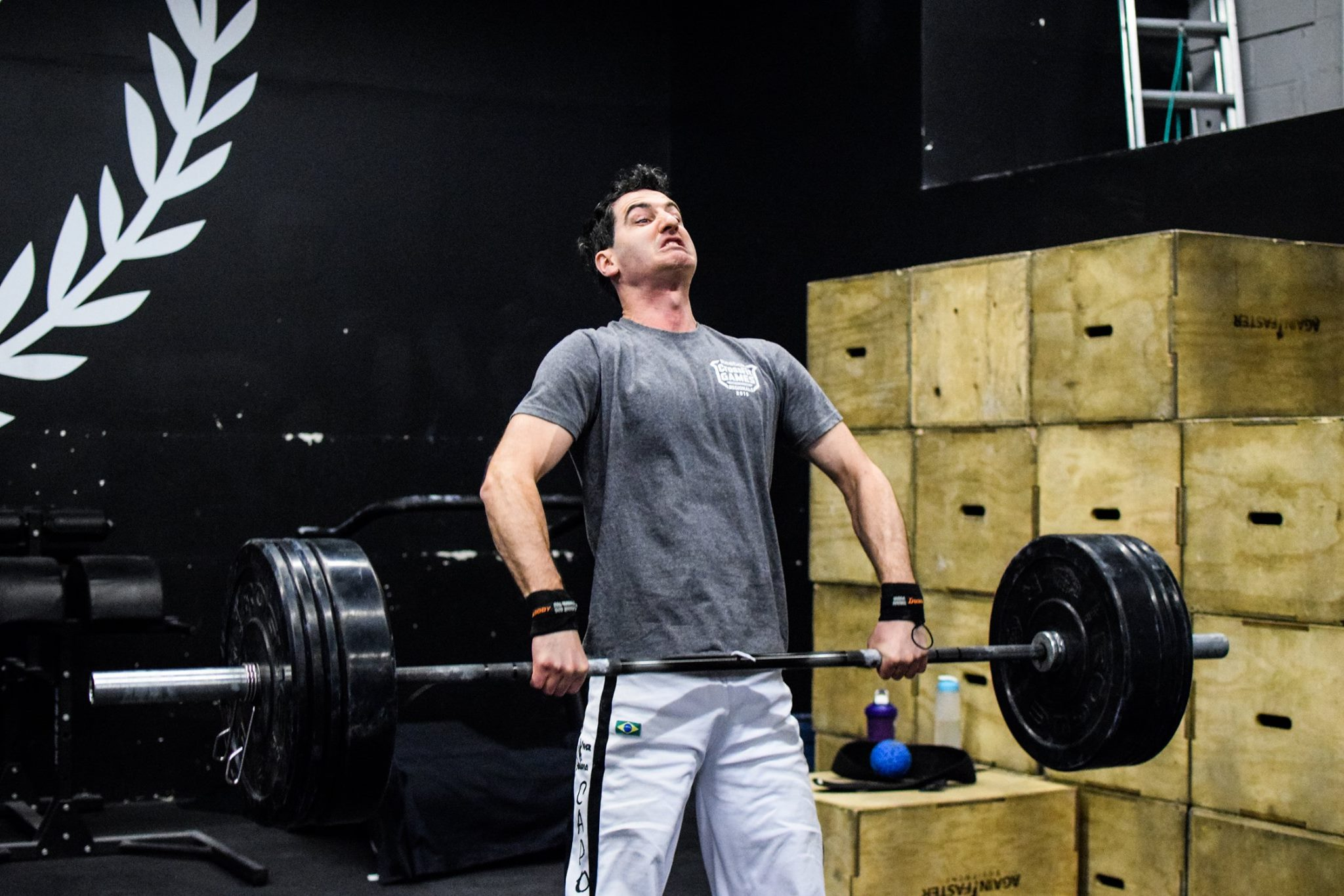 Kirky hitting triple extension in his power clean.