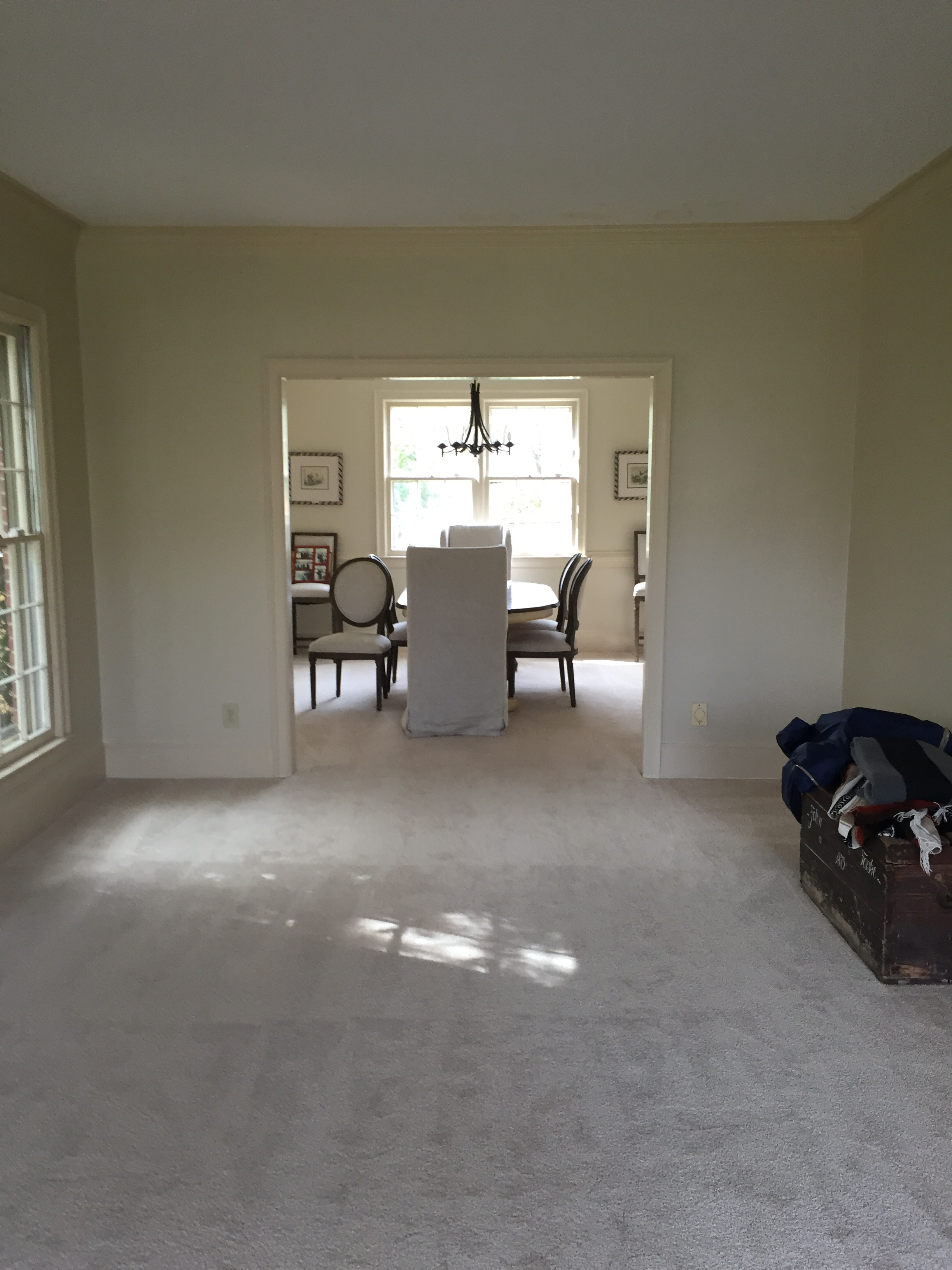 Giant formal living room, which passes into dining room...essentially one long room