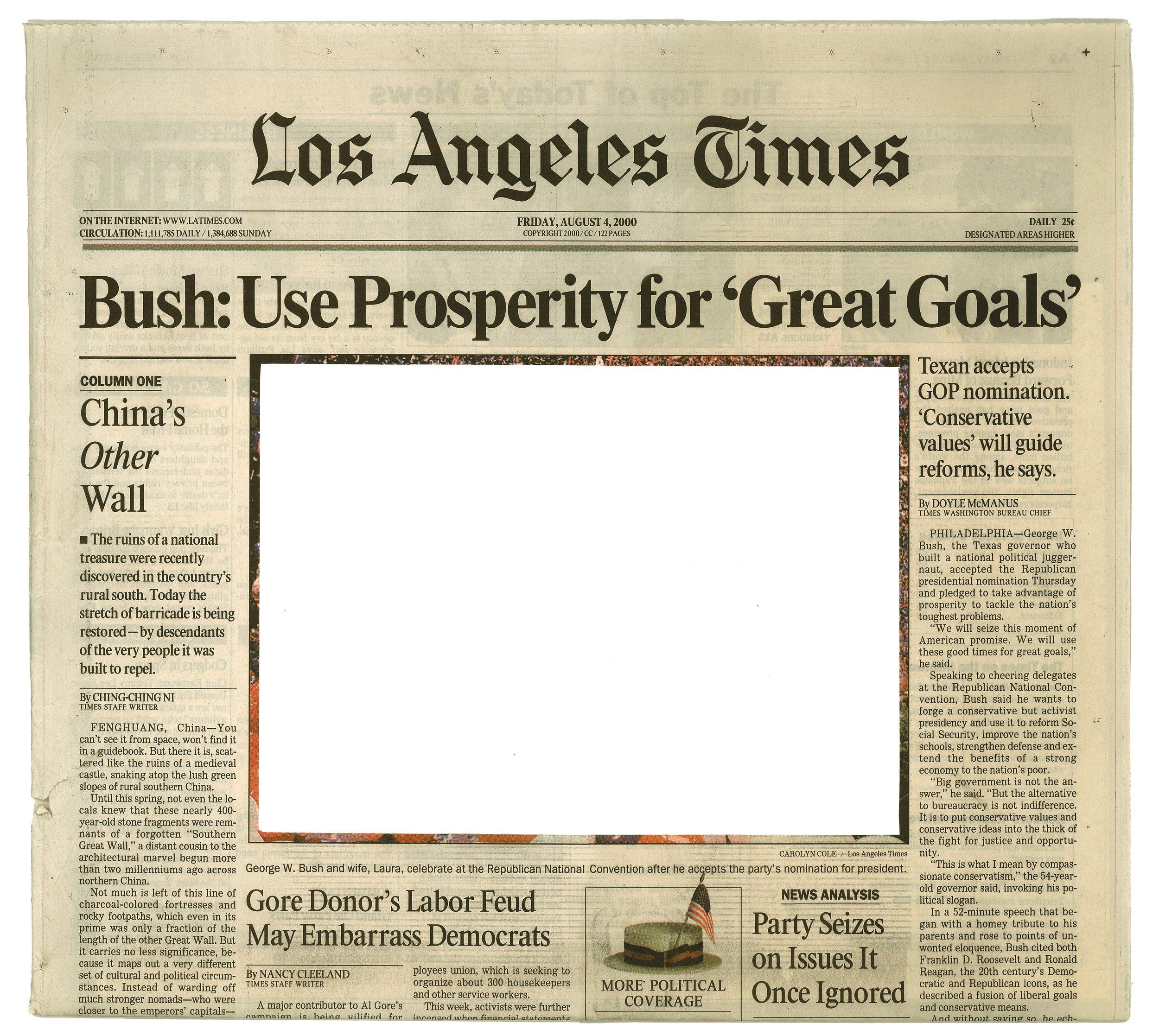Roland Schefferski, Empty Images - Los Angeles Times, 2001