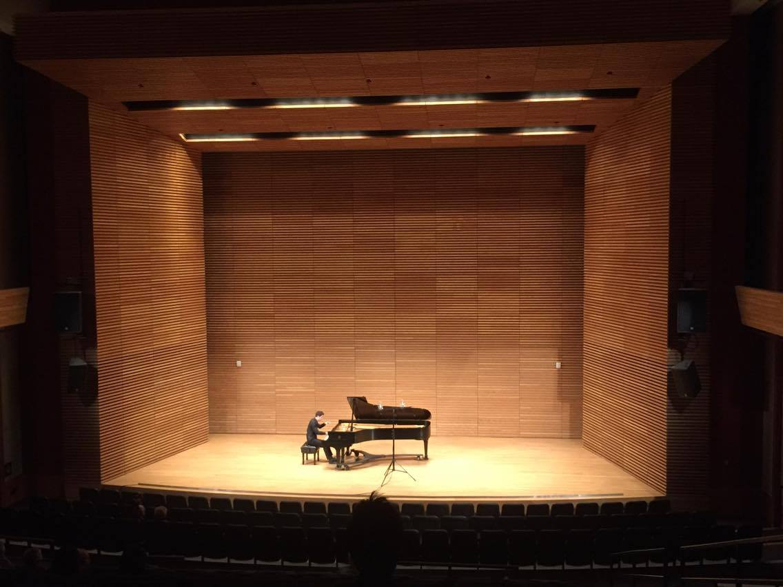 Captured during my doctoral pre-candidate recital. Photo credit: Shan Shan Ding