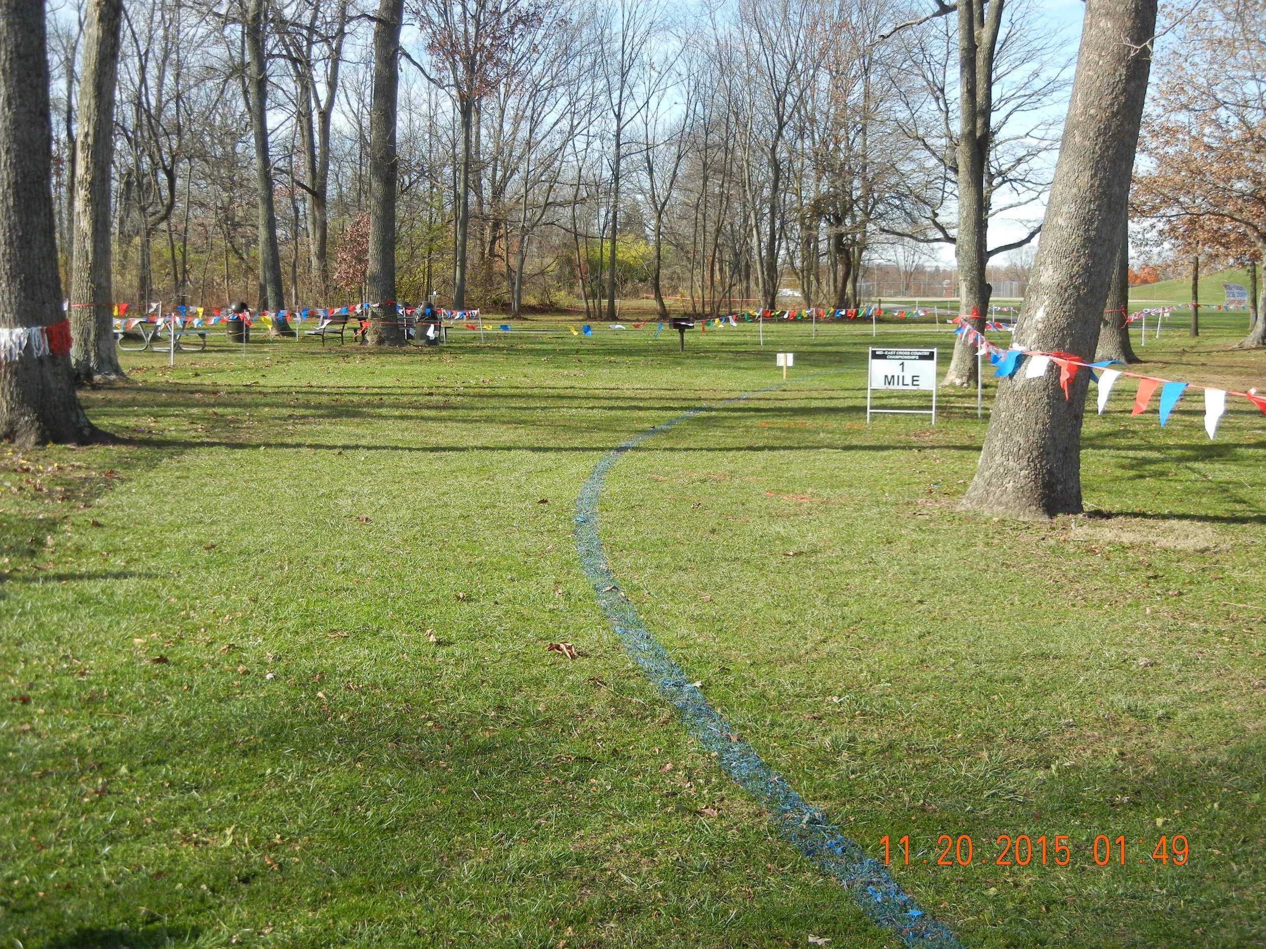 1-mile mark