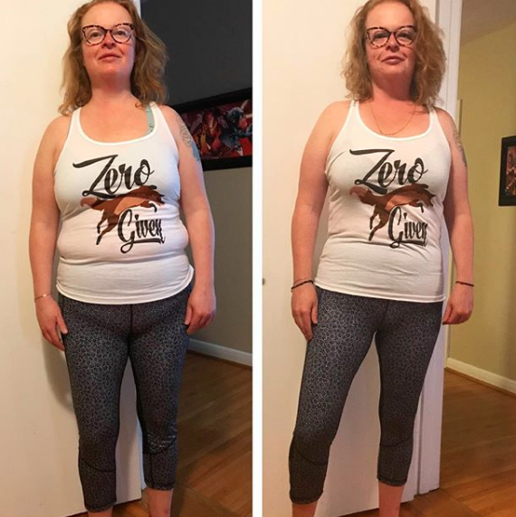 20 lbs down just in time for her 40th birthday!