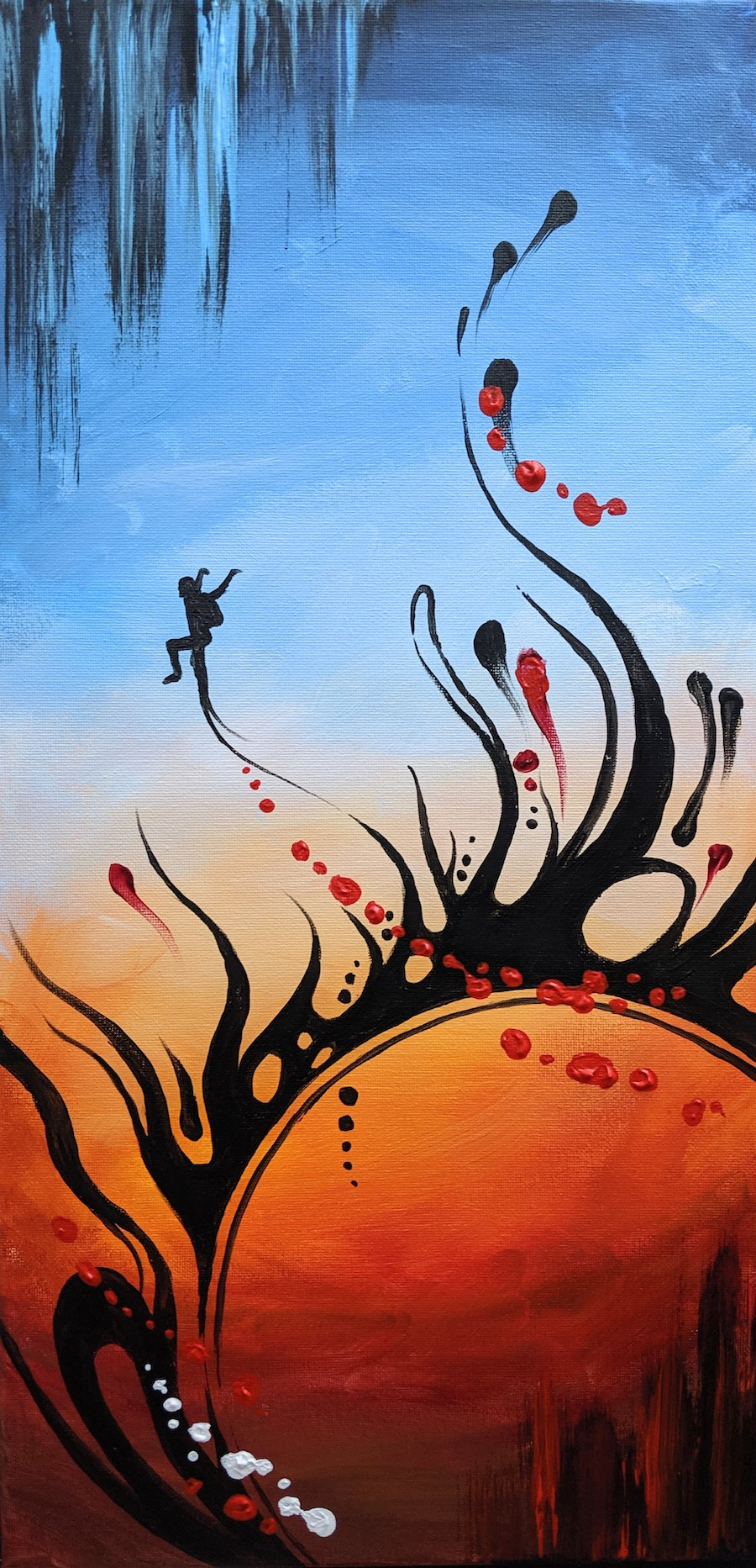 """Fly Free #1 - SOLD Acrylic on Canvas - 10"""" x 20"""""""