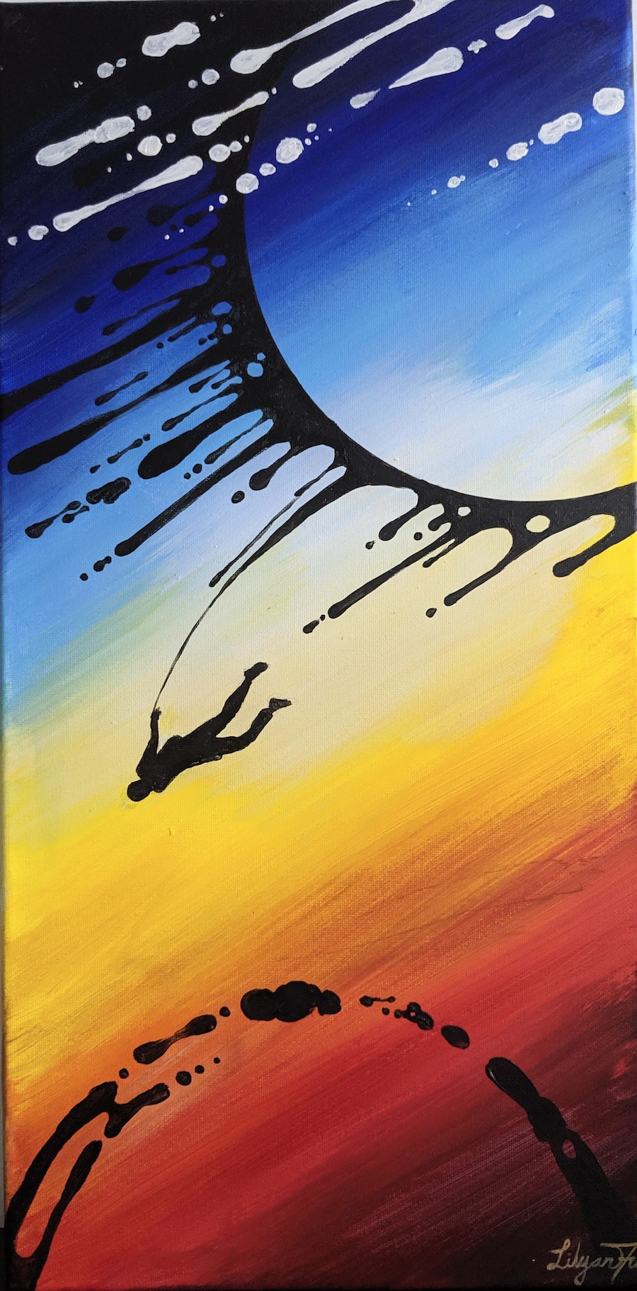 """Fly Free #3 - SOLD Acrylic on Canvas - 10"""" x 20"""""""