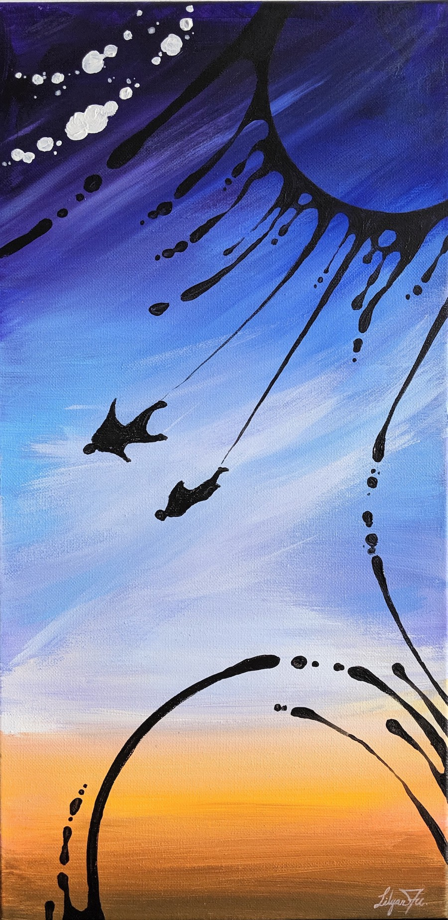 """Fly Free #4 - SOLD Acrylic on Canvas - 10"""" x 20"""""""