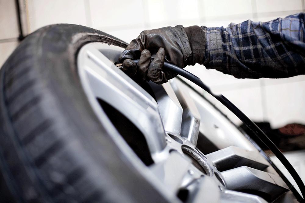 Flat Tire Repair Advanced Auto Center