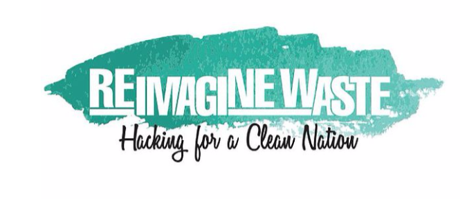 The logo for the Reimagine Waste Hackathon