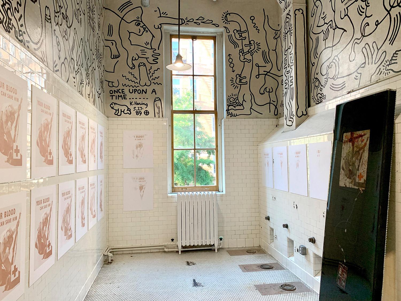Installation view, Keith Haring Bathroom, The Center, New York, NY (2019)