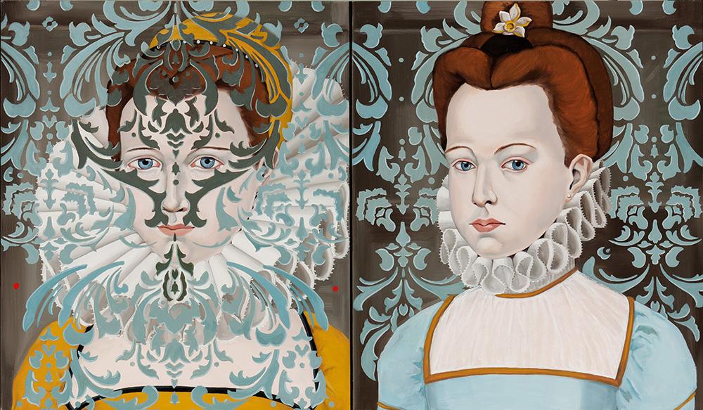 "Clara Eugenie  / 24 x 48 "" /oil on linen"