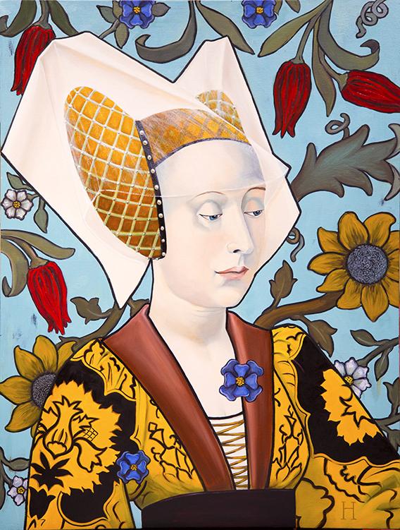 """Lady von Hoffstedt / 33"""" x 22"""" / oil on linen"""