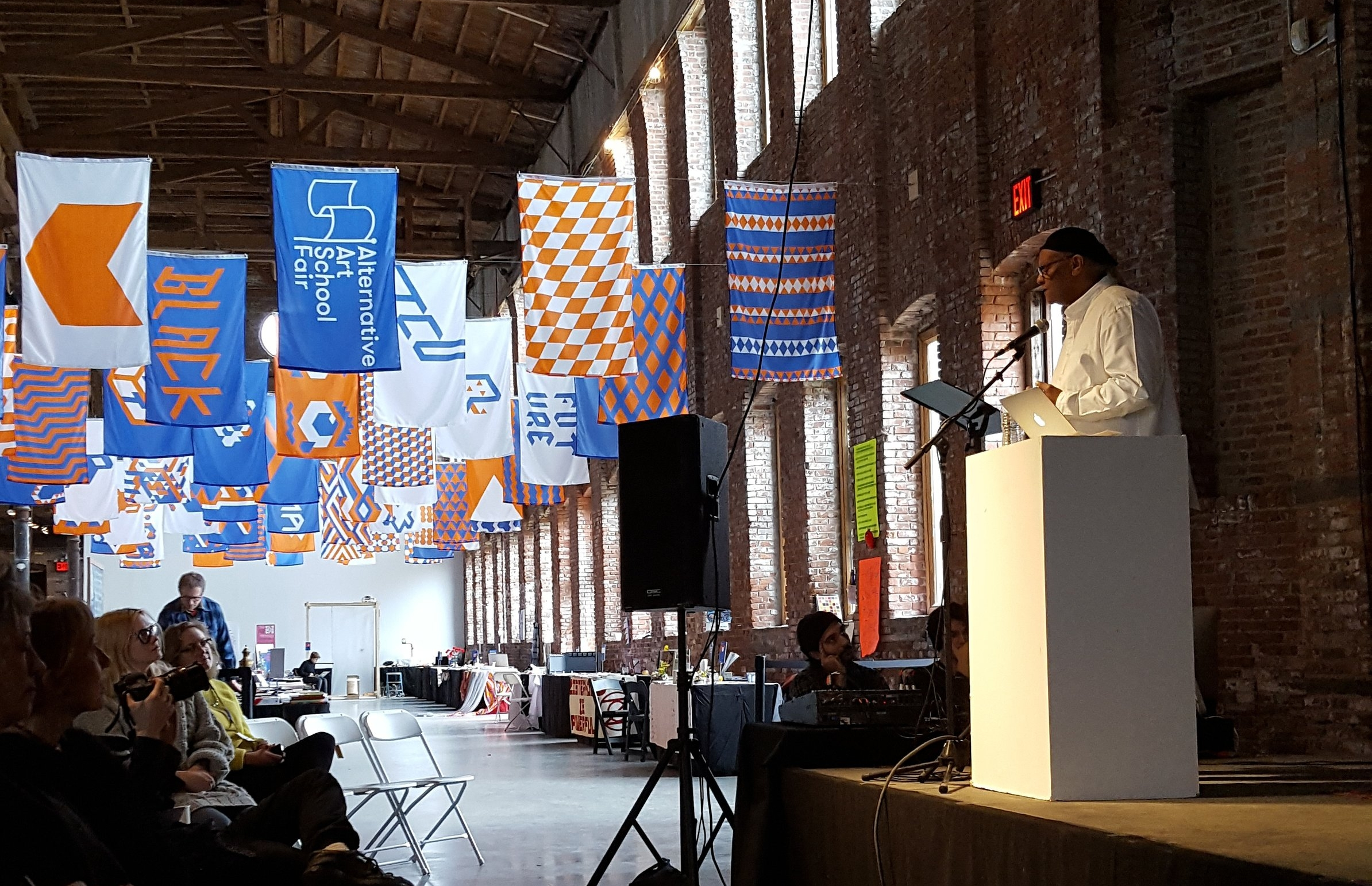 """Dr. Craig L. Wilkins, PhD, RA, speaking at Pioneer Works on November 20, in a talk titled """"The Architecture of Arts Education""""."""