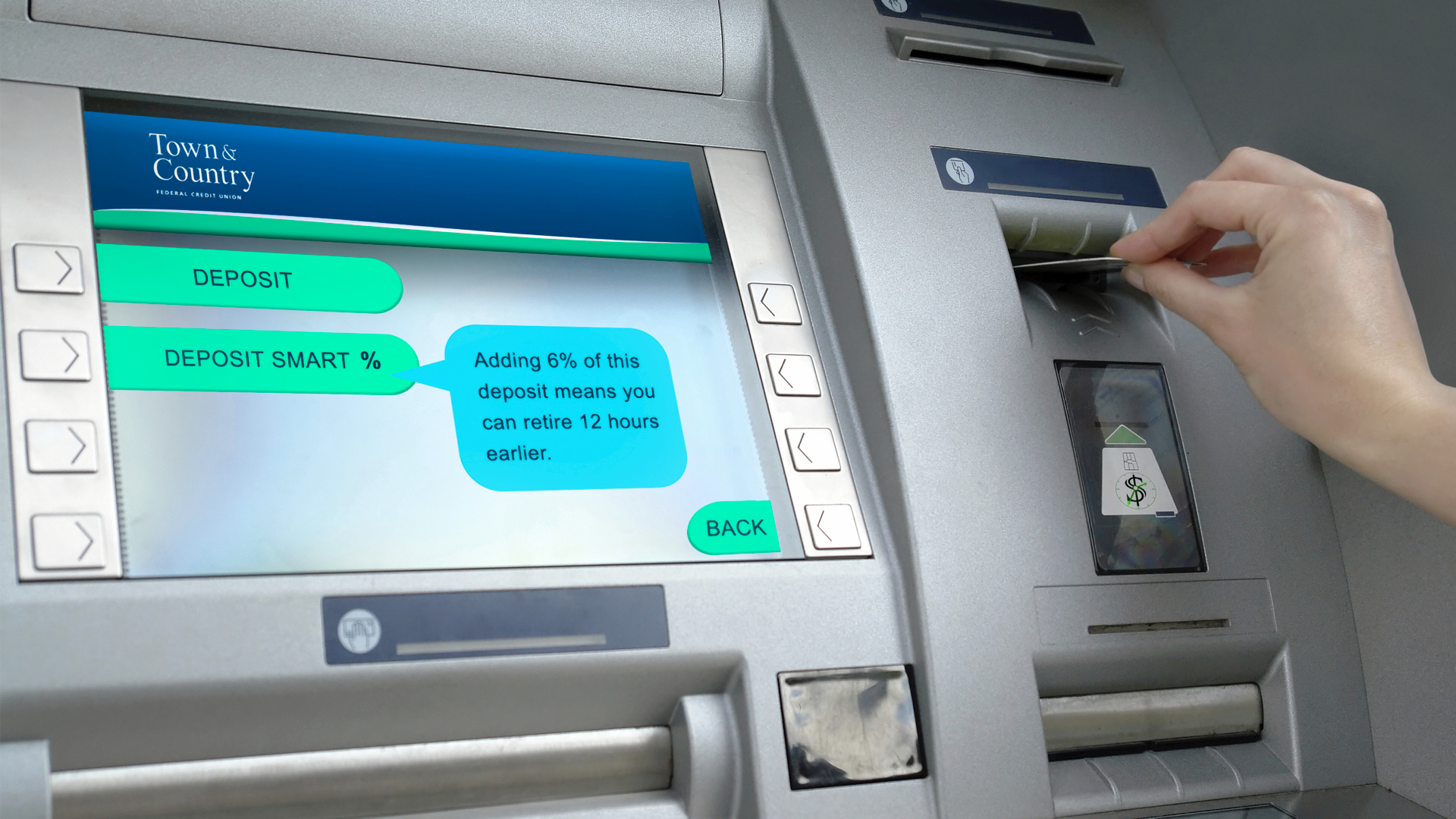 INPUT STAGE- when depositing monies, the screen offers two main choices for allocating the funds.