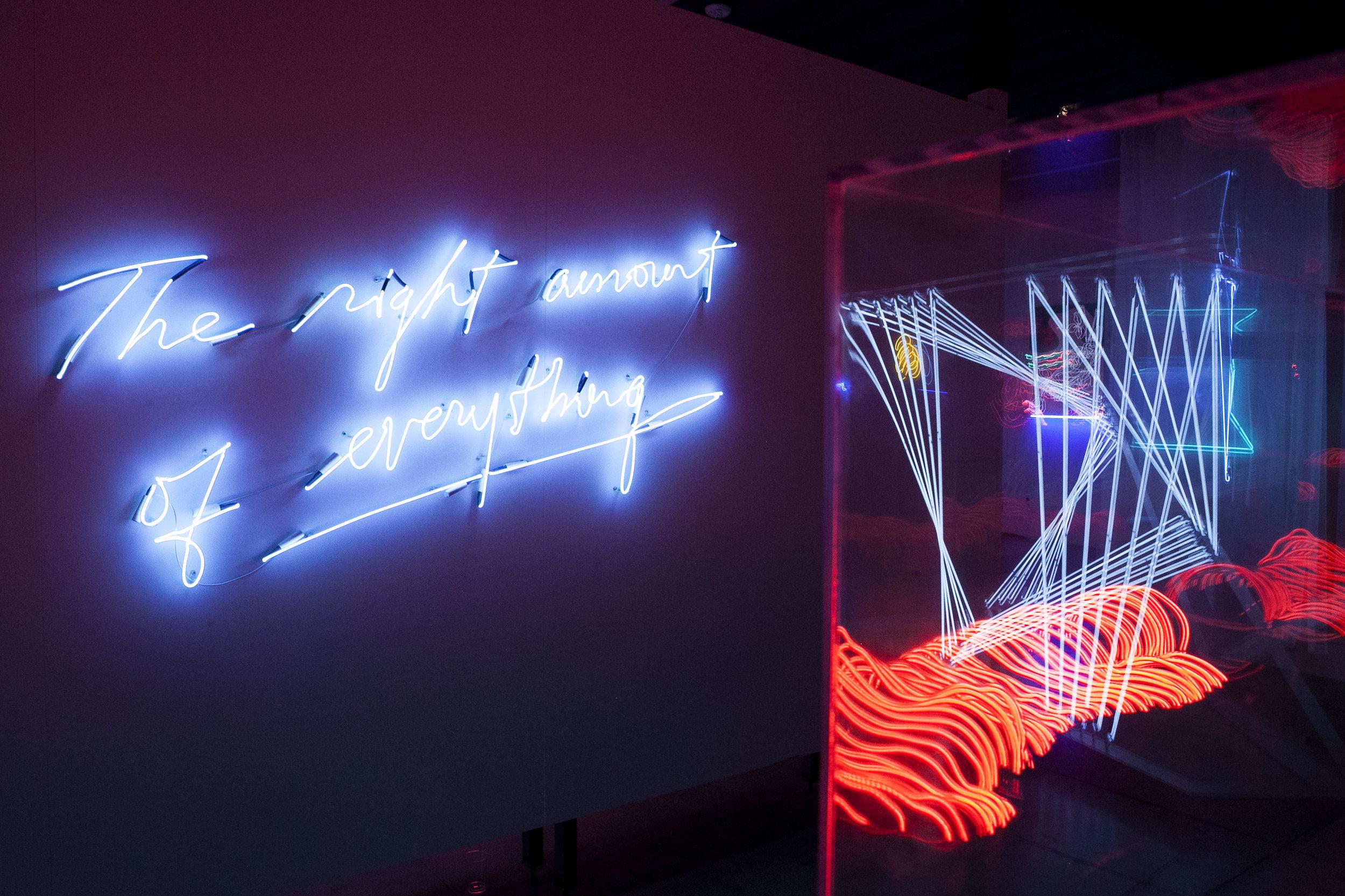 Olivia Steel original piece on display at Museum of Neon Art