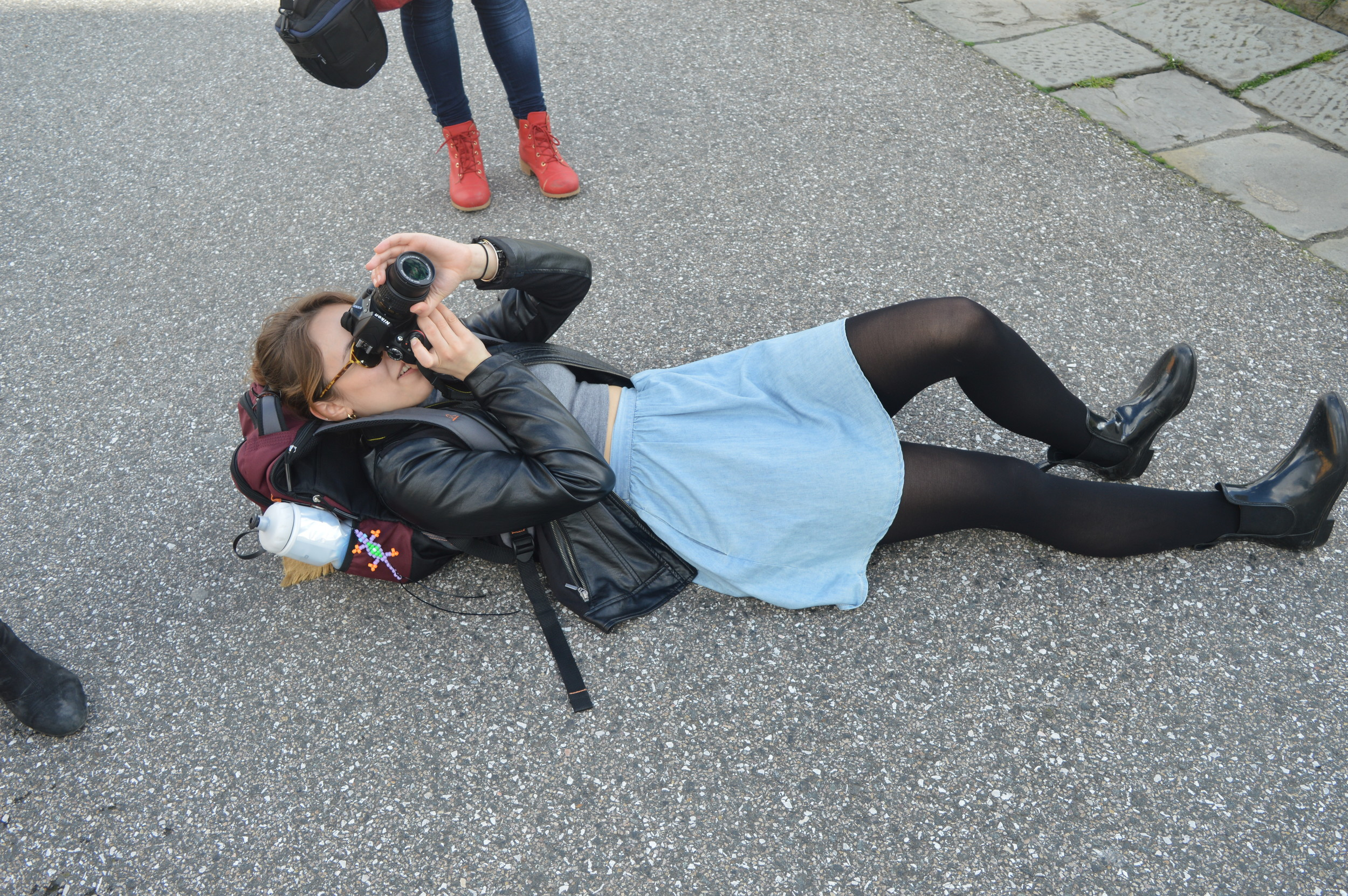 Getting that perfect angle of the Leaning Tower of Pisa can be exhausting.