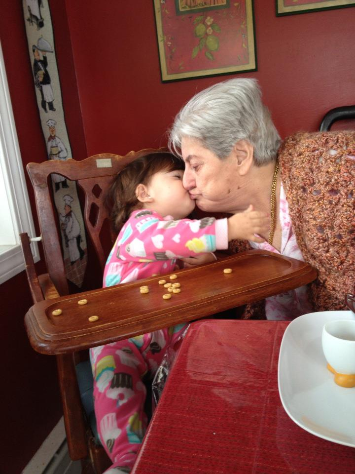 Nonna with one of her many great-grandchildren
