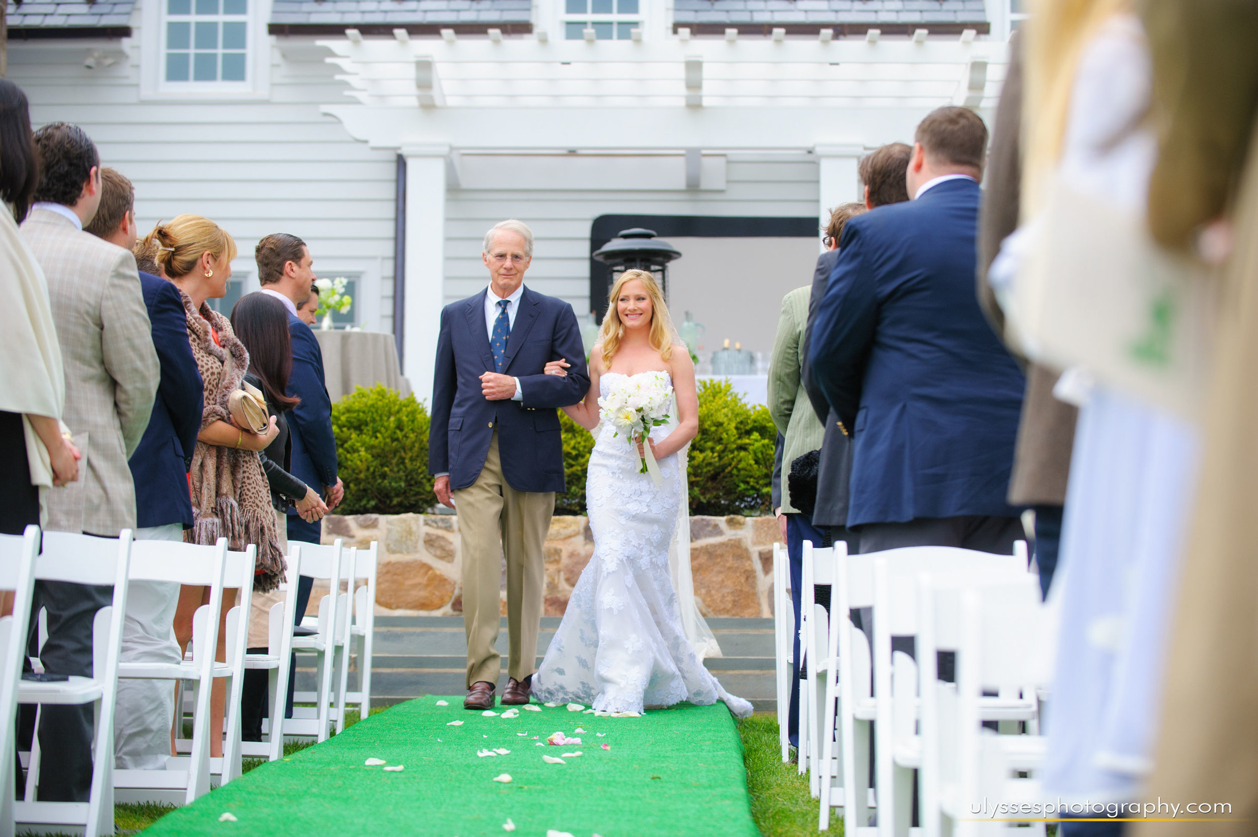 11 At Home Wedding Brides Processional Mira Zwillinger Outdoor Ceremony.jpg