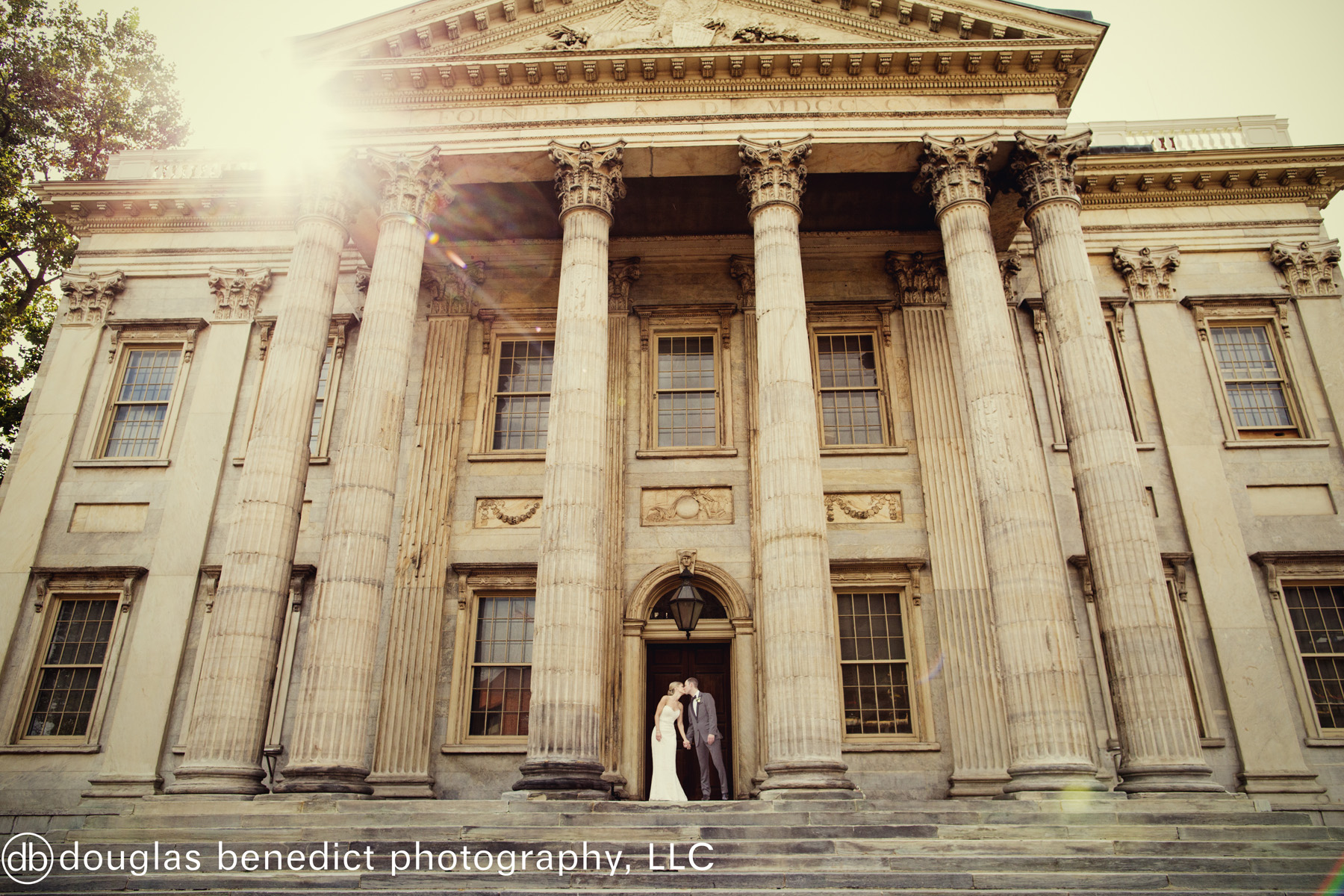 16 Philadelphia Destination Wedding Bank Steps Bride and Groom.jpg