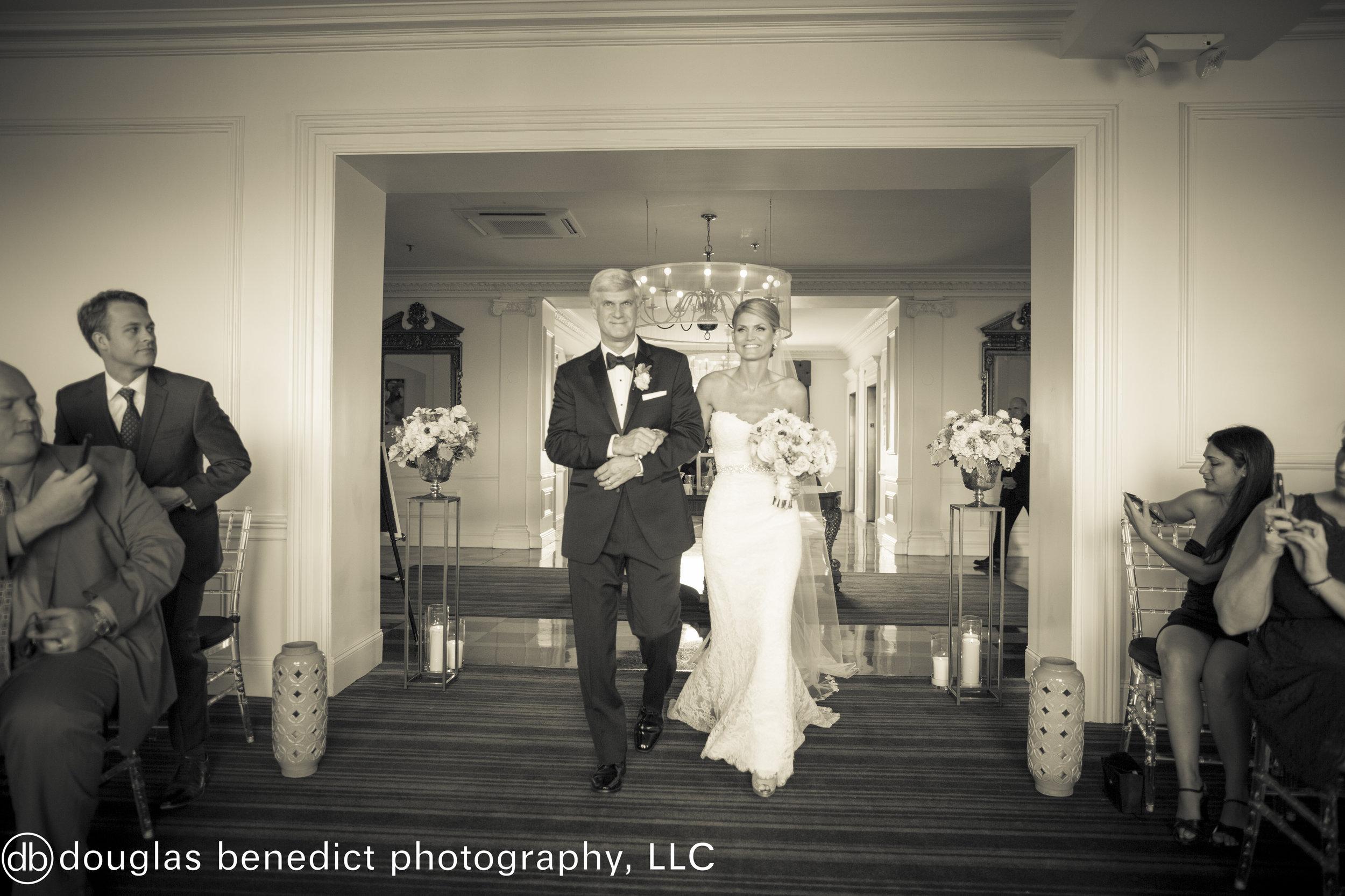 24 Downtown Club Philadelphia Destination Wedding Father Daughter Brides Processional.jpg