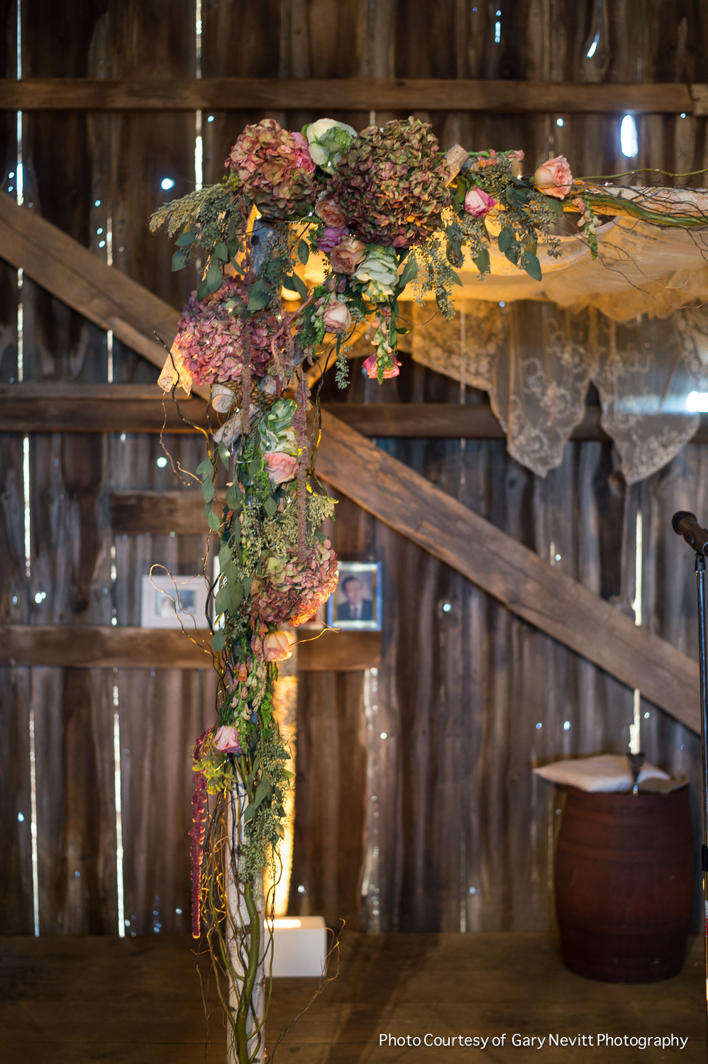 19 Philadelphia Wedding Birch Chuppah Philadelphia Wedding Florist Antique Hydrangea Barn Wedding.jpg