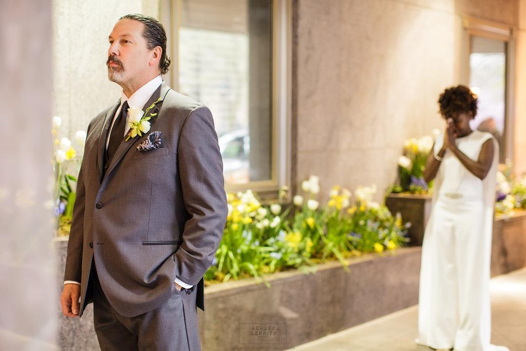 13 Philadelphia Wedding Intimate Wedding Rittenhouse Hotel First Look.jpg