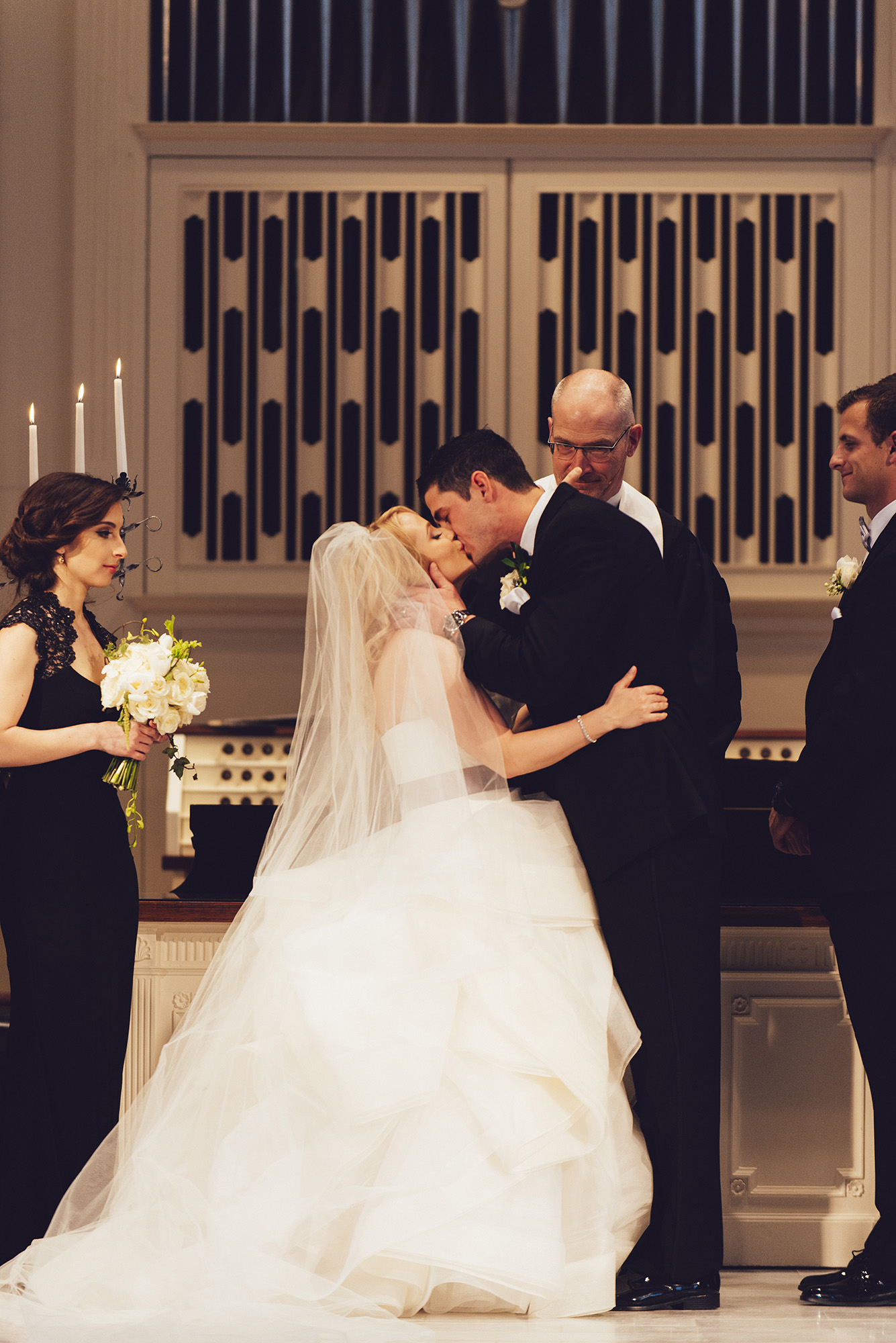 16 Hotel DuPont Wedding First and Central Wedding Ceremony Kiss.jpg