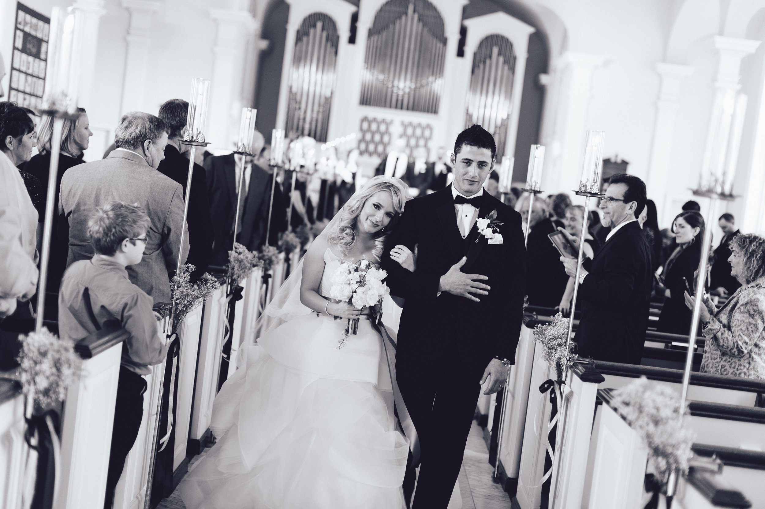 17 Hotel DuPont Wedding First and Central Wedding Recessional.jpg