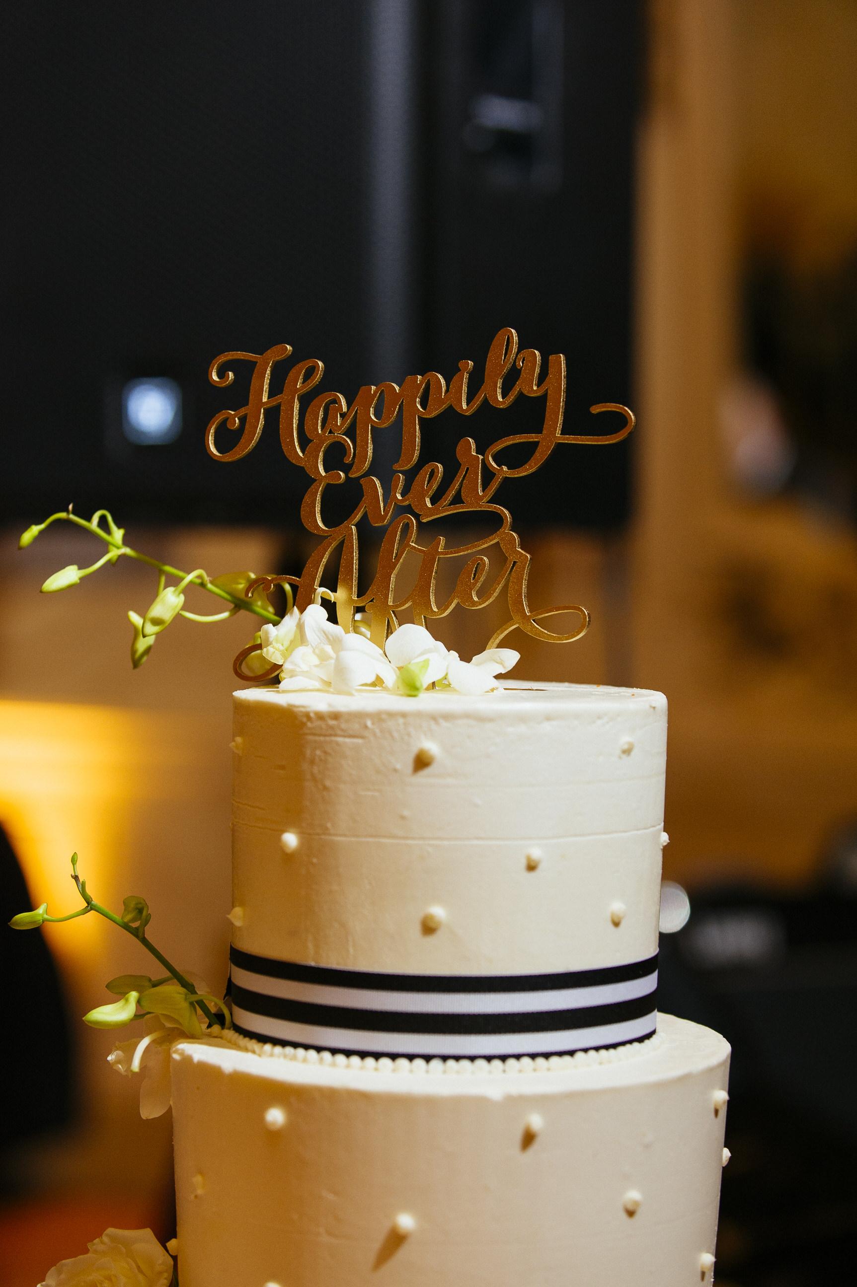 27 Hotel DuPont Wedding Cake Desserts by Dana Black and White Wedding.jpg