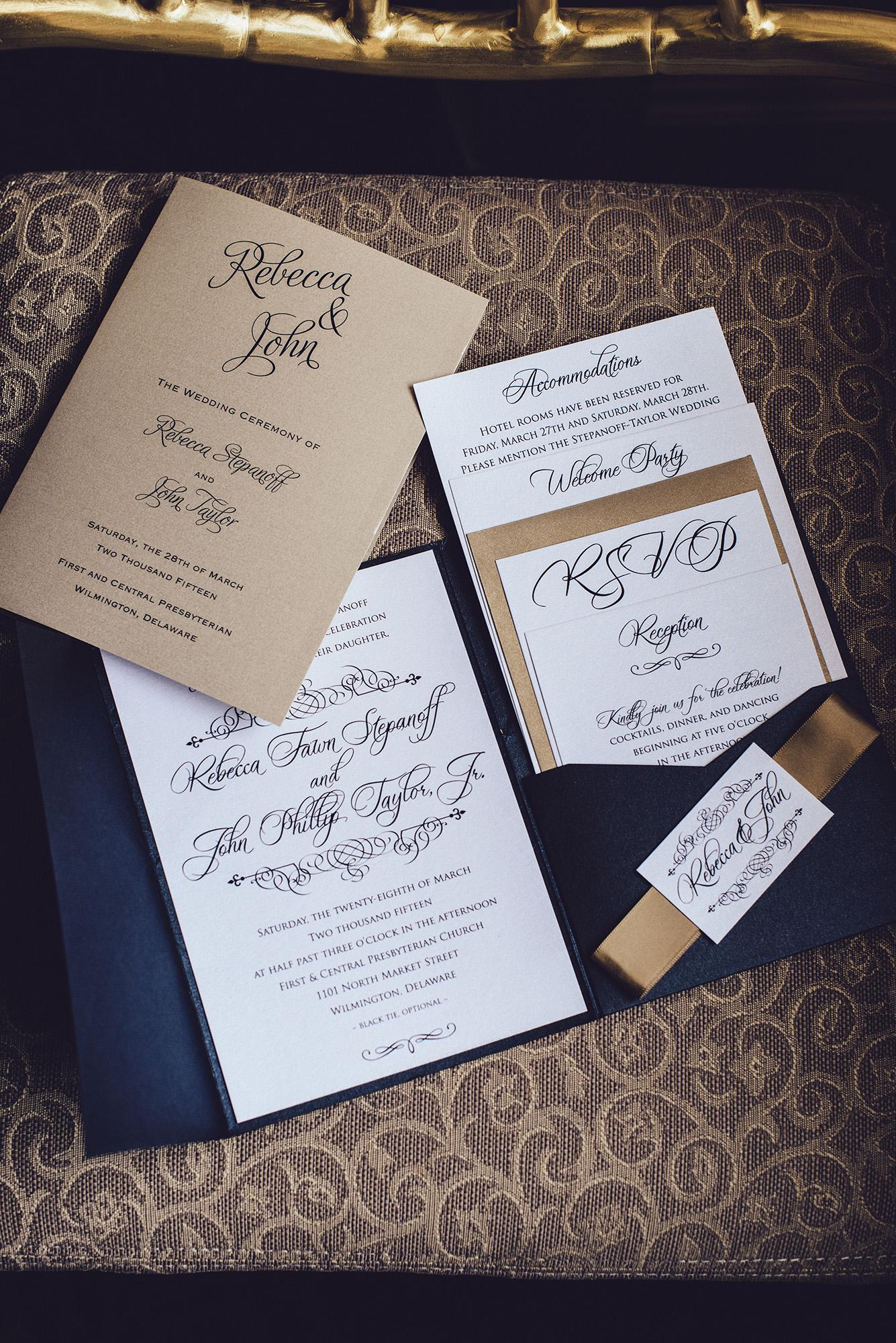 03 Hotel DuPont Wedding Invitation Suite Aribella Events.jpg
