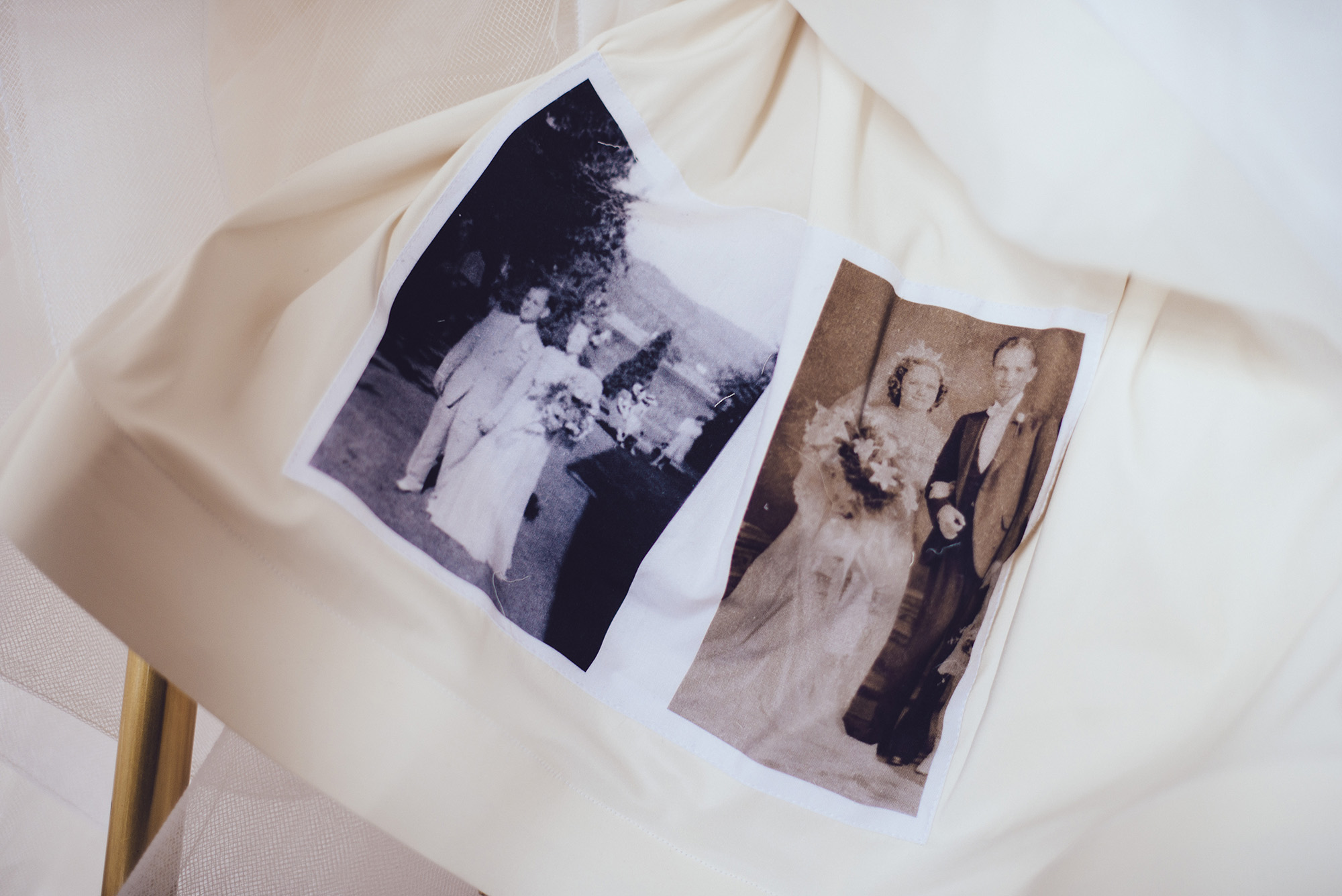 05 Hotel DuPont Wedding Grandparents Photo in Hem of Wedding Dress Family Heirlooms Wedding.jpg