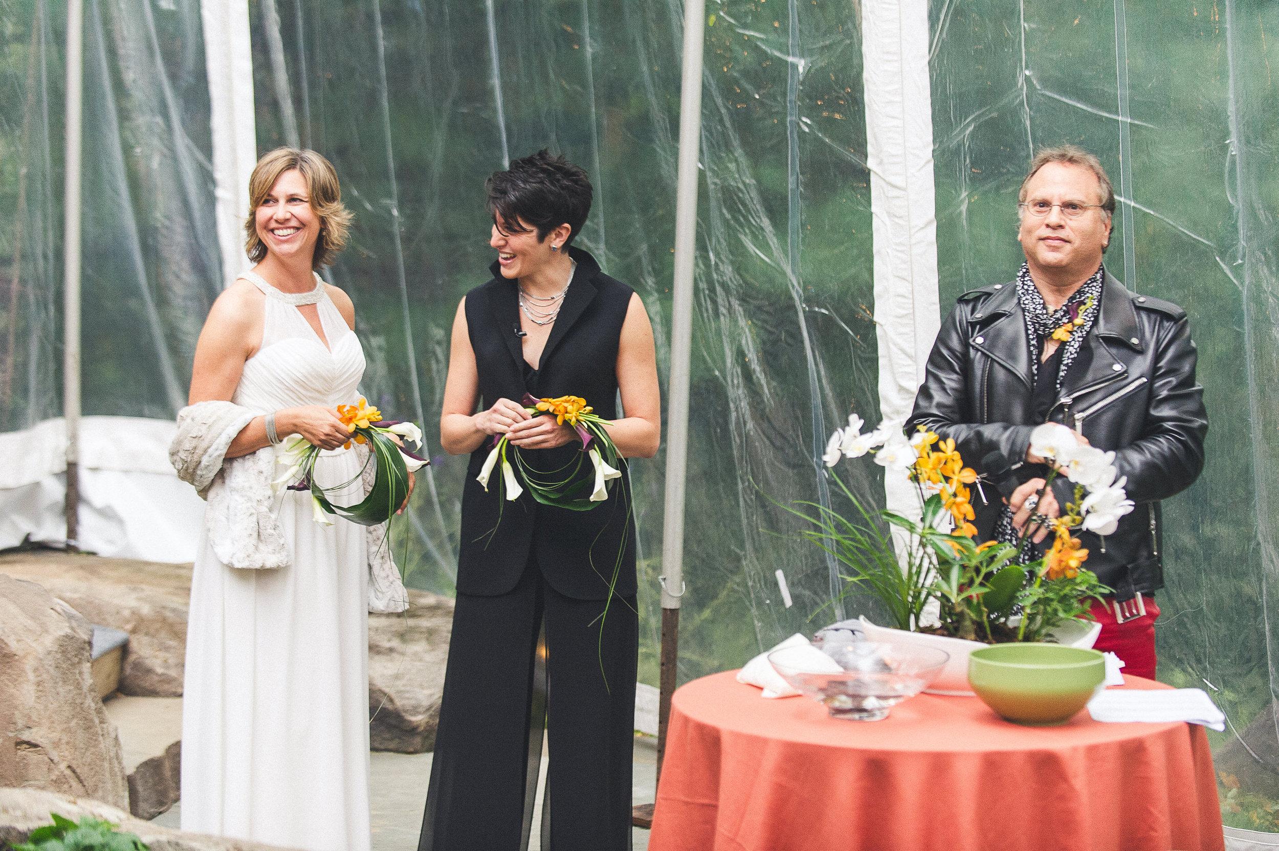 13 Philadelphia At Home Wedding Ceremony Clear Tent.jpg