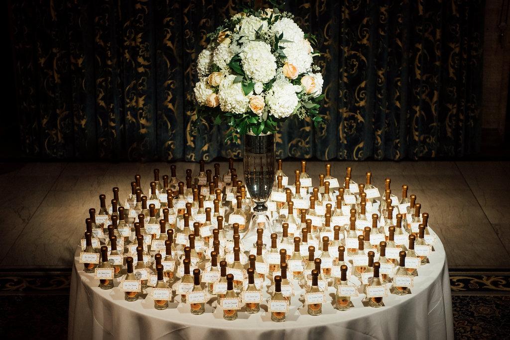 014 Hotel DuPont Wedding Champagne Escort Cards Aribella Events.jpg