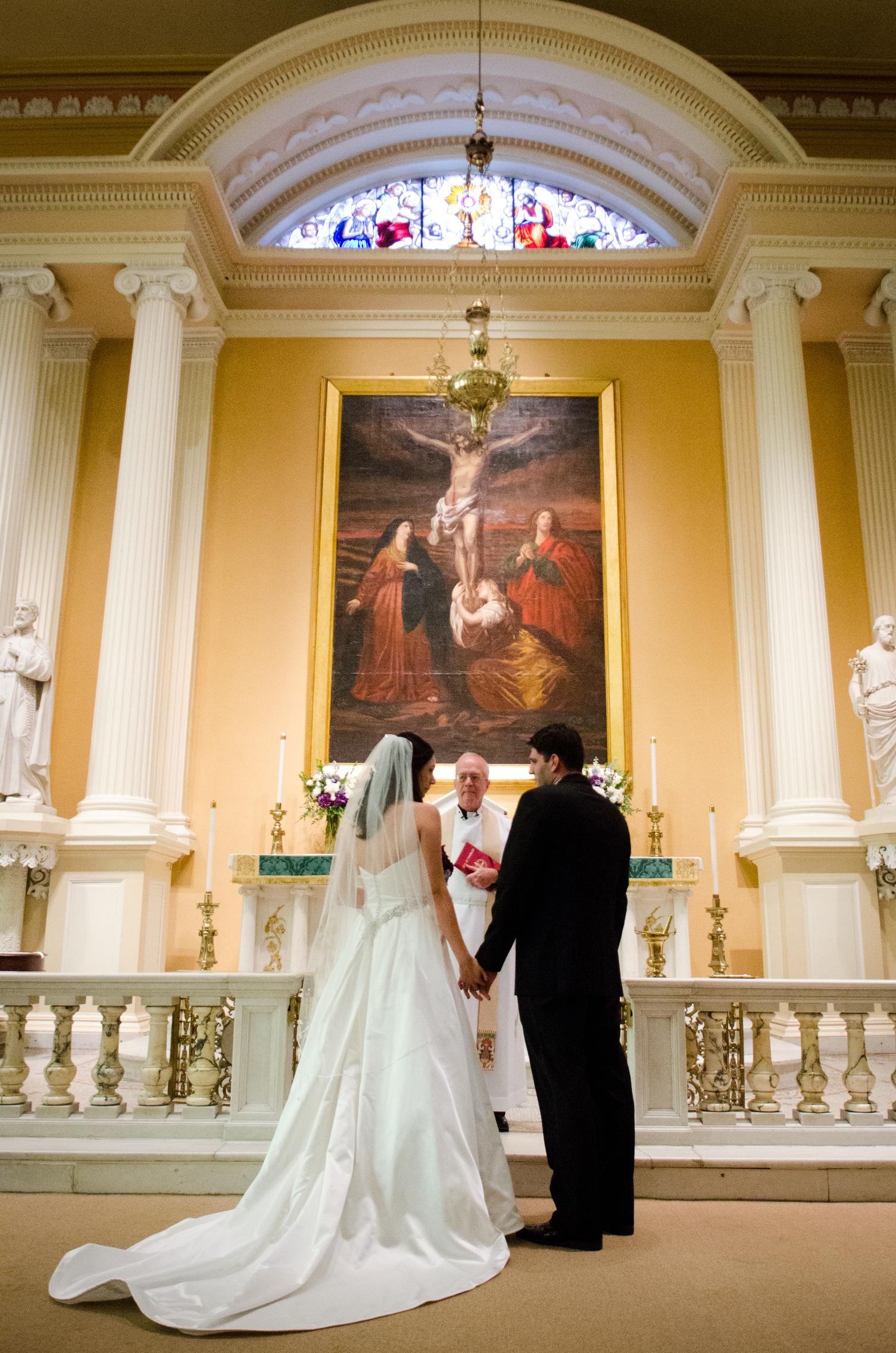 16 Old St Josephs Wedding Philadelphia Ceremony.JPG