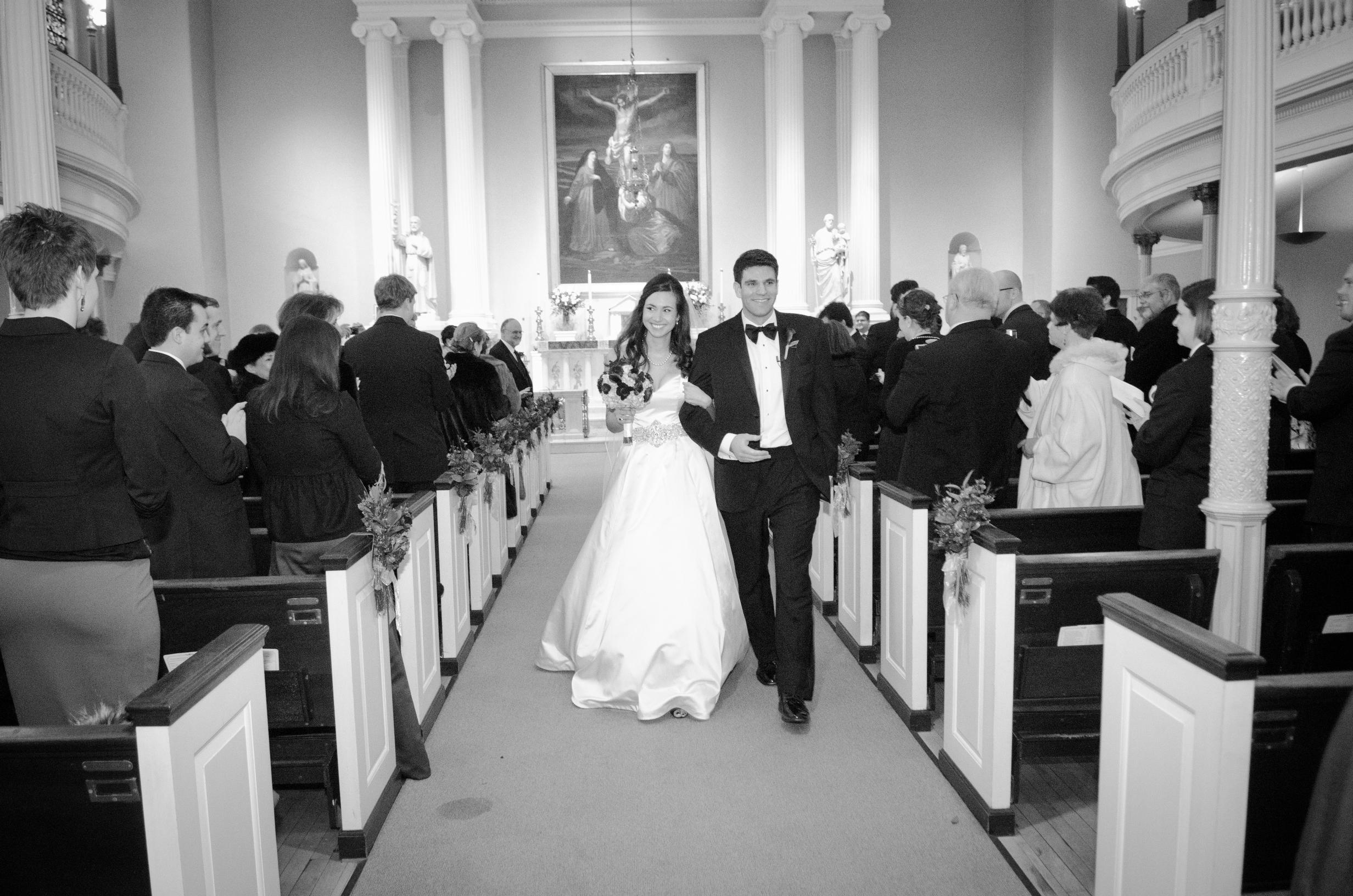 19 Old St Josephs Philadelphia Wedding Recessional.JPG