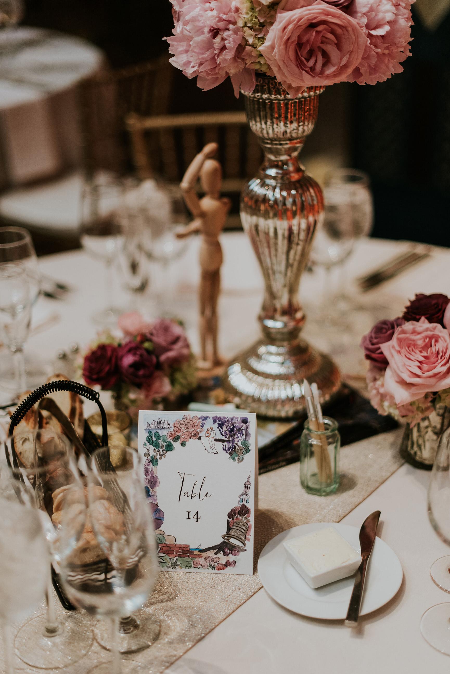 54 Blush Pik Mauve Hydrangea Rose Mercury Glass Art Museum PAFA Wedding.jpg
