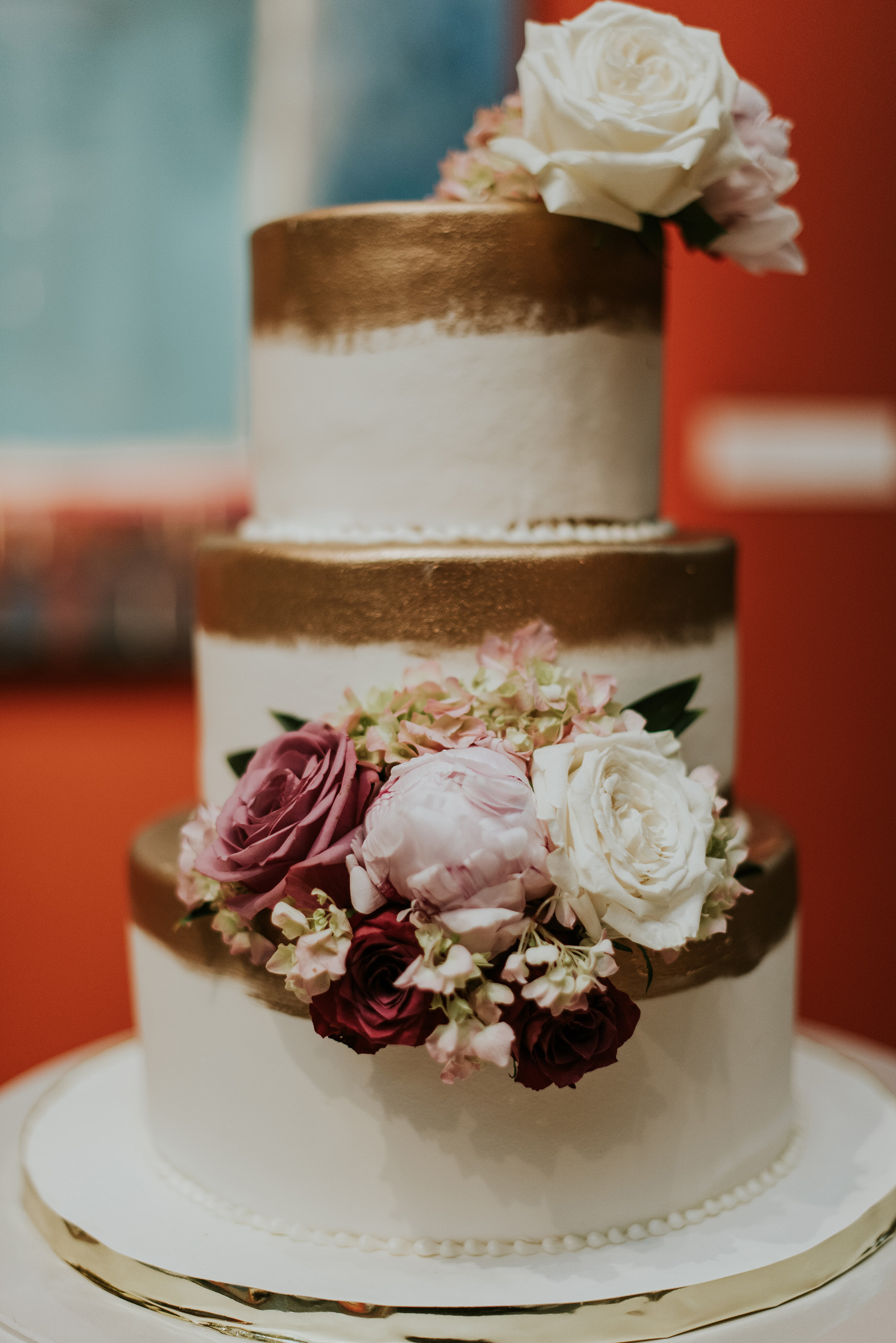 57 Garden Rose Peony Gold Brushed Cake PAFA Wedding.jpg
