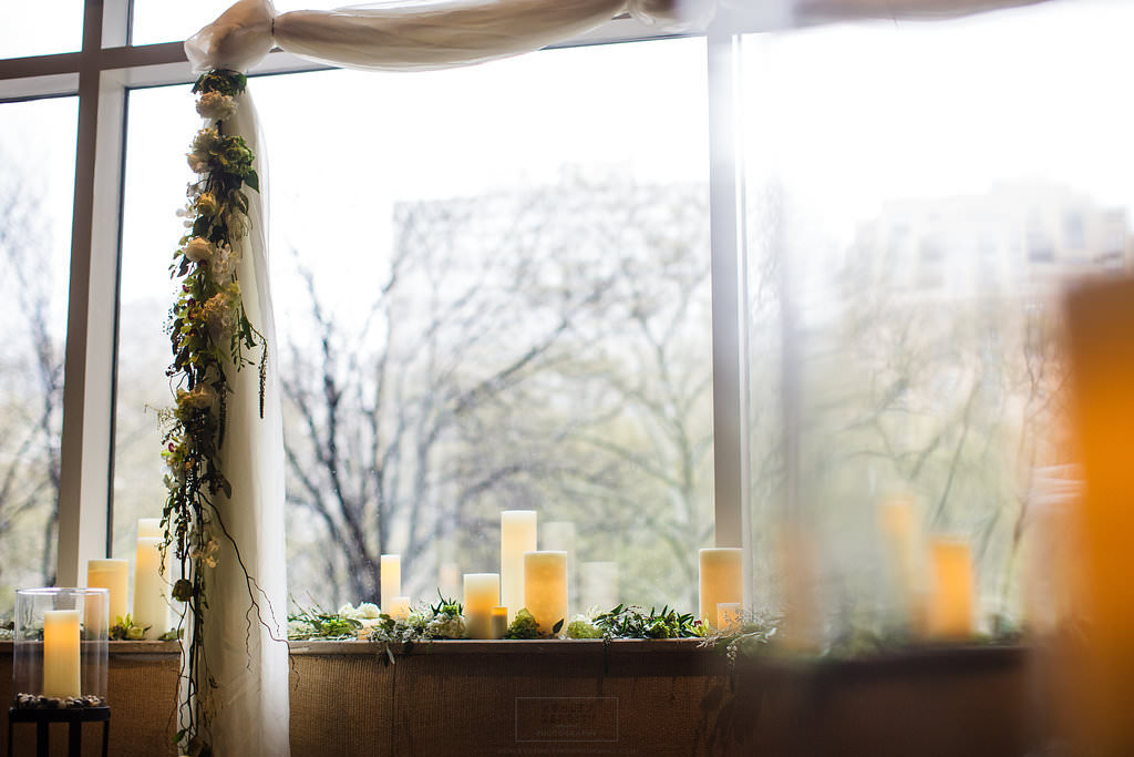 16 Ceremony Backdrop Candlelight White and Green Wedding Rittenhouse Philadelphia.jpg