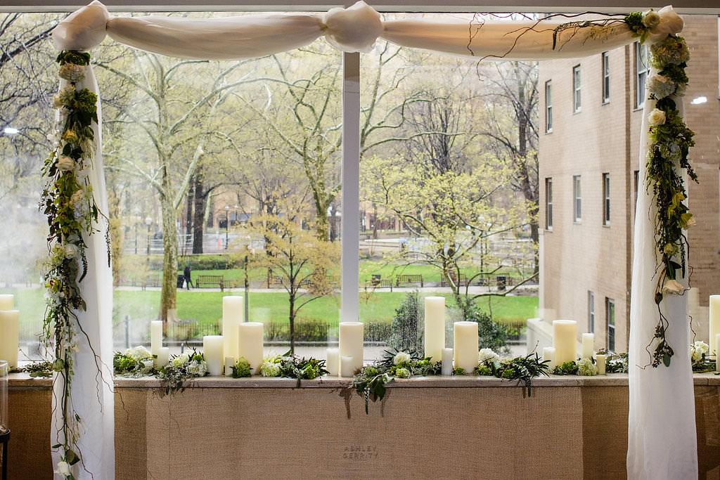 15 Ceremony Arch Drape Flowers Greenery Natural Design Philadelphia Wedding.jpg