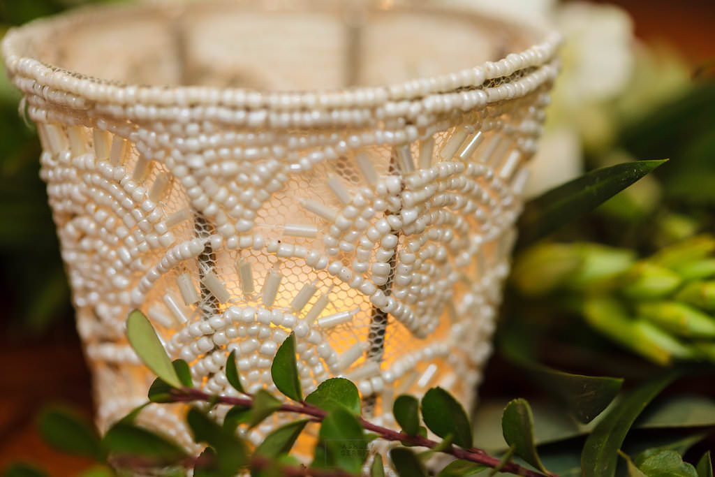 19 Beaded Votive Candlelight Greenery Garland Greenery Table Runner.jpg
