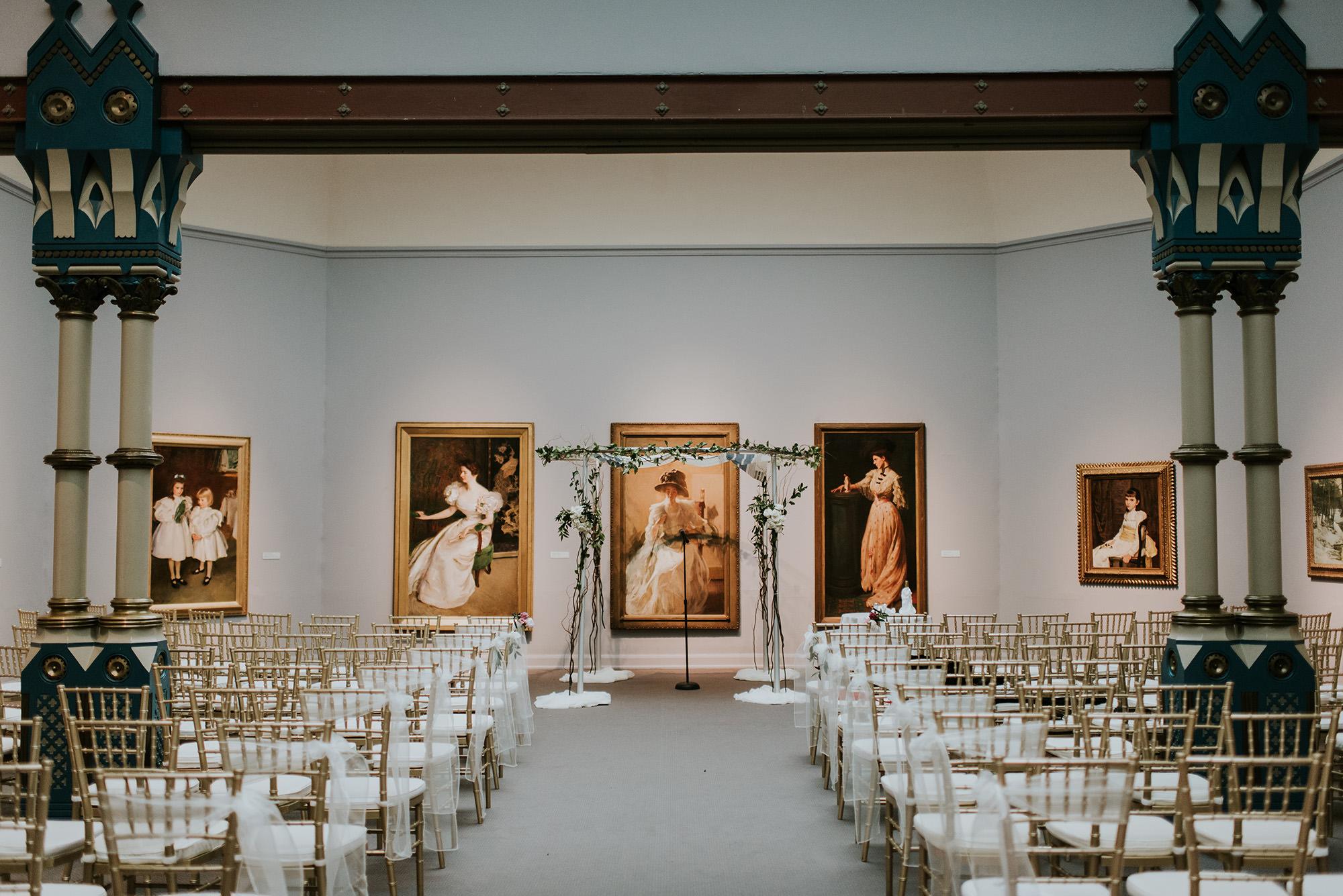 45 PAFA Ceremony Round Chuppah Branches Art Museum Wedding.jpg