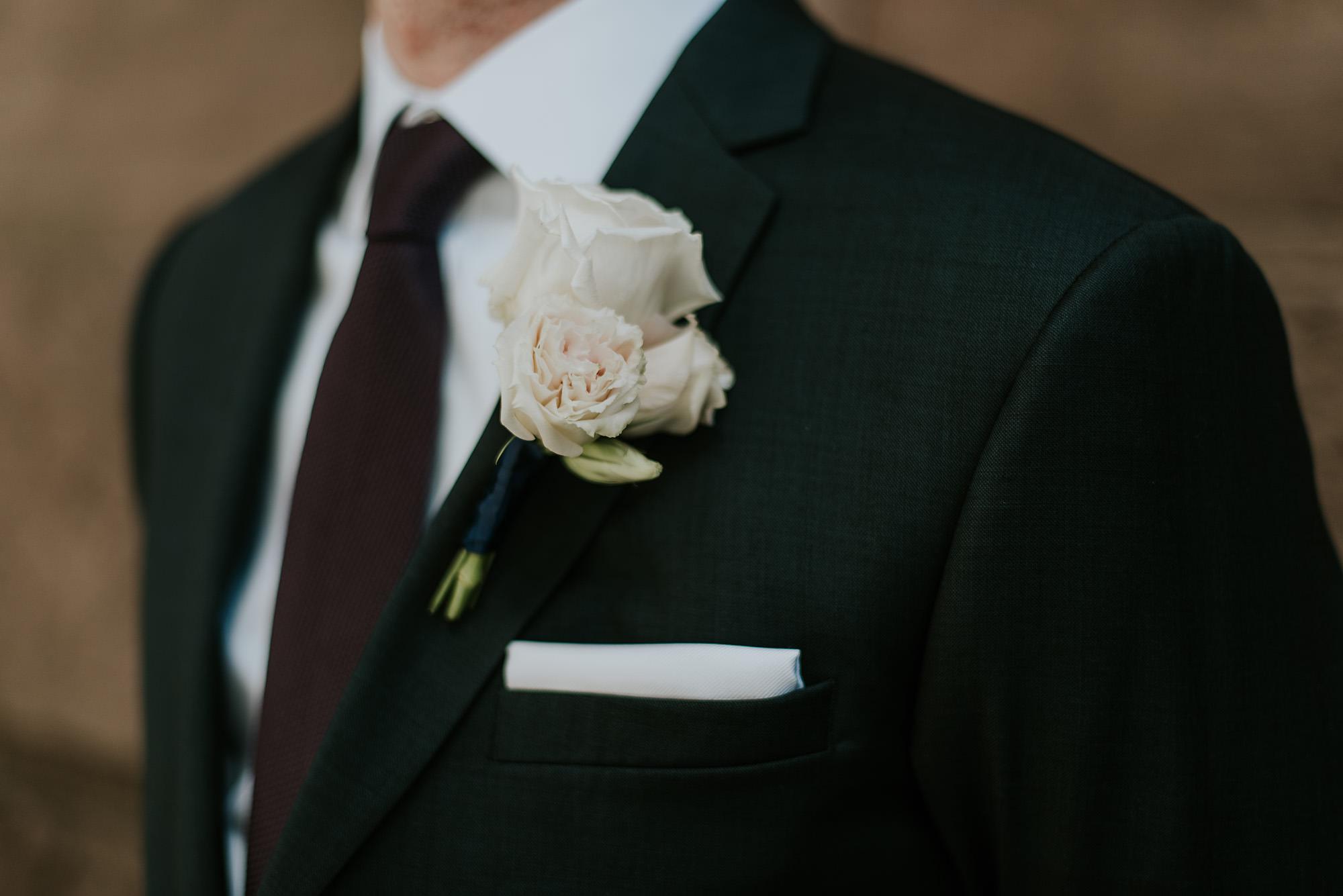 50 Philadelphia Wedding PAFA Grooms Boutonniere Aribella Events.jpg