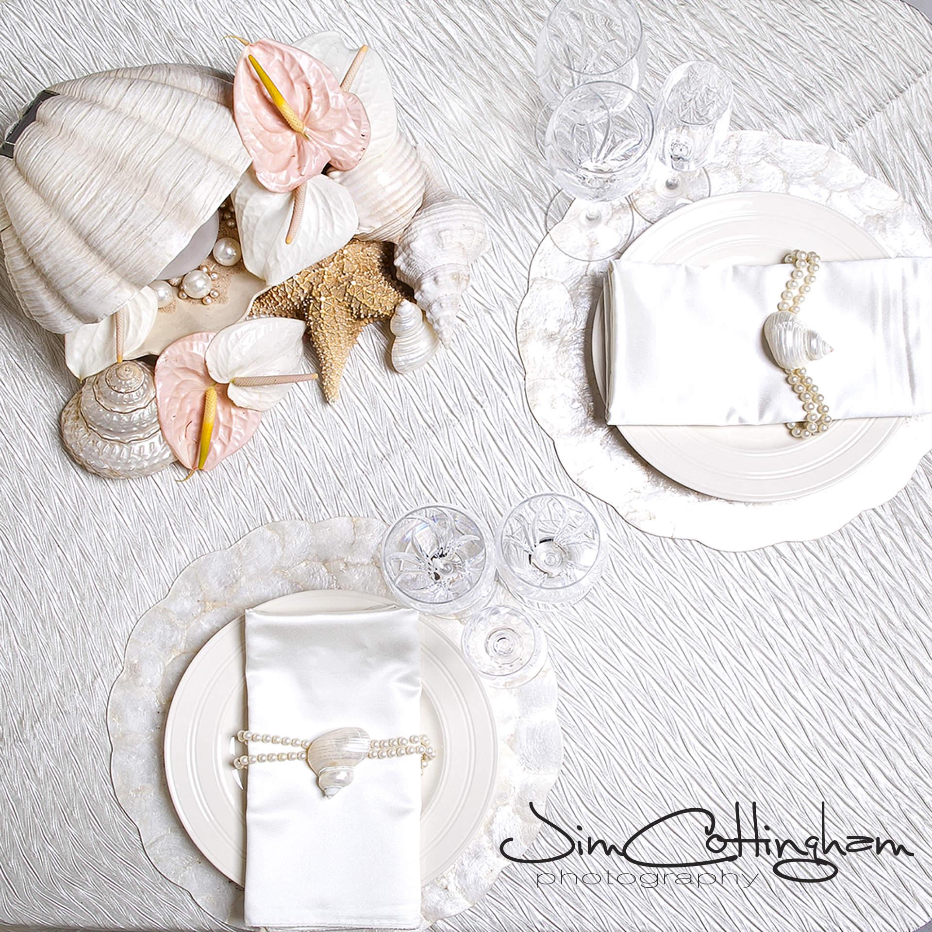 02 Philadelphia Wedding Florist Cream and Blush Seashell Centerpiece Anthurium Pearls.jpg