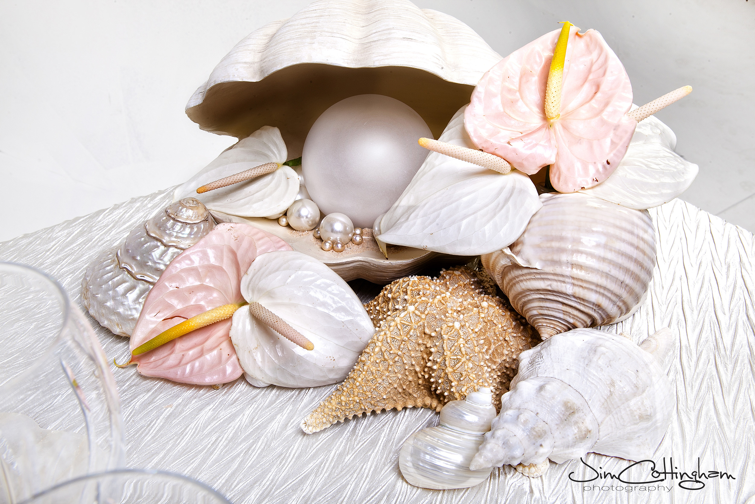03 Wedding Florist Philadelphia Seashell Cream blush starfish pearls centerpiece.jpg