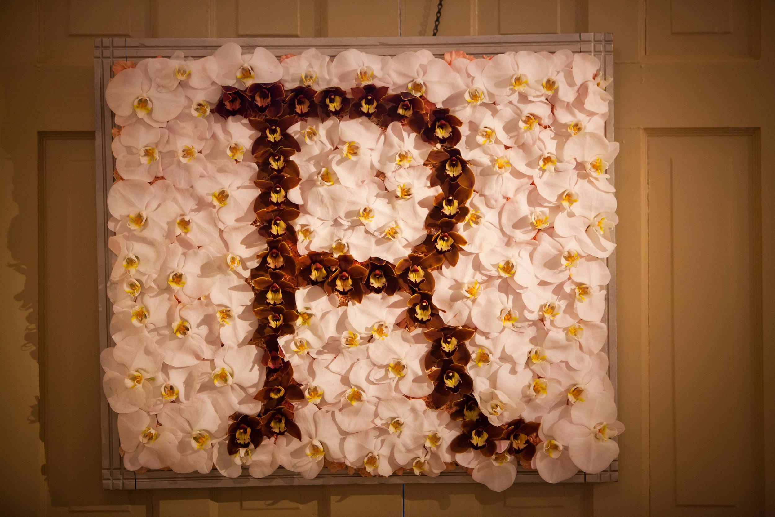 04 Orchid Monogram Historic Yellow Springs Chester County Wedding Florist.jpg