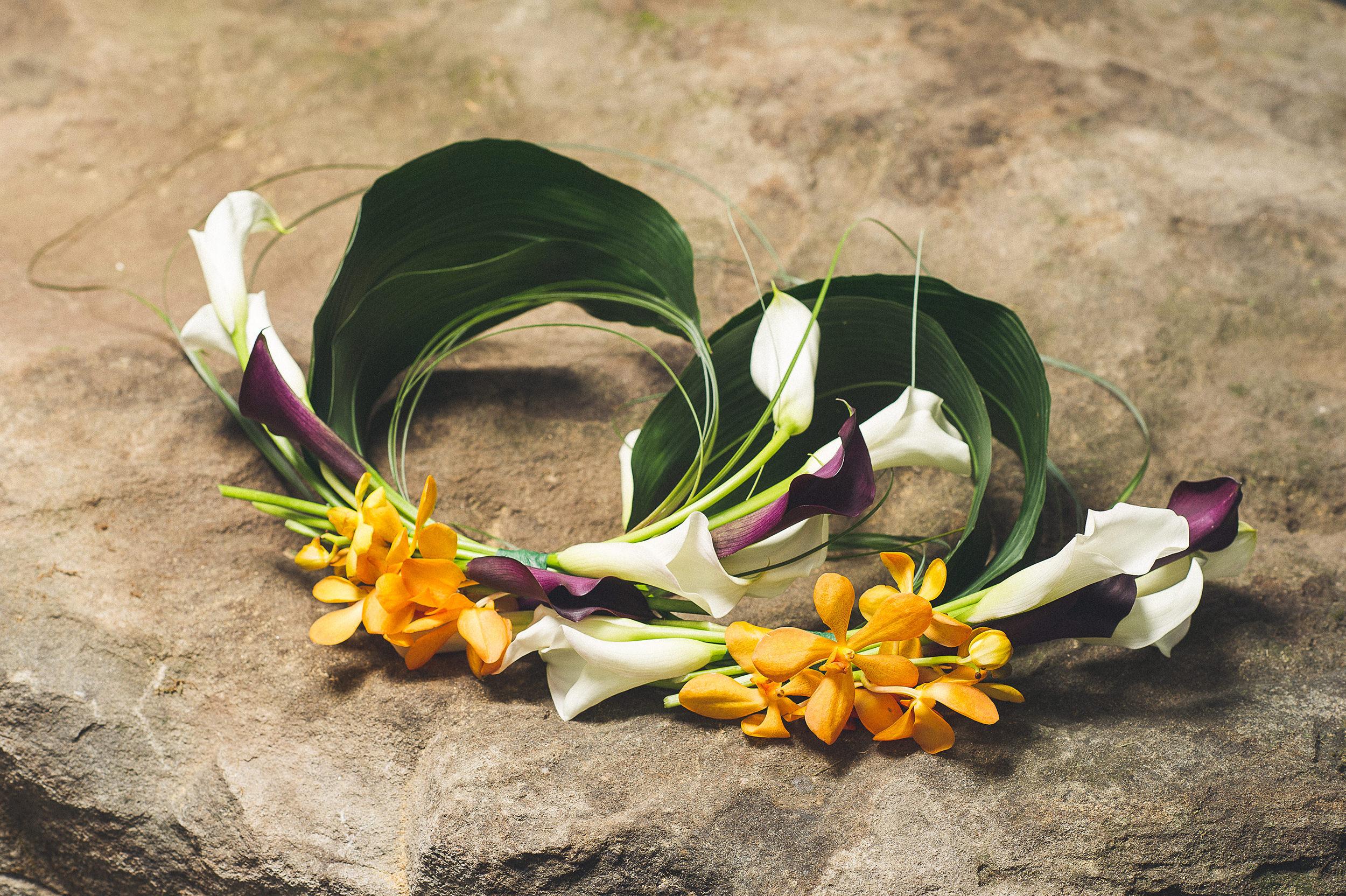 15 Infinity Bouquet Orange Orchid Purple Calla Lily White Calla Lily.jpg