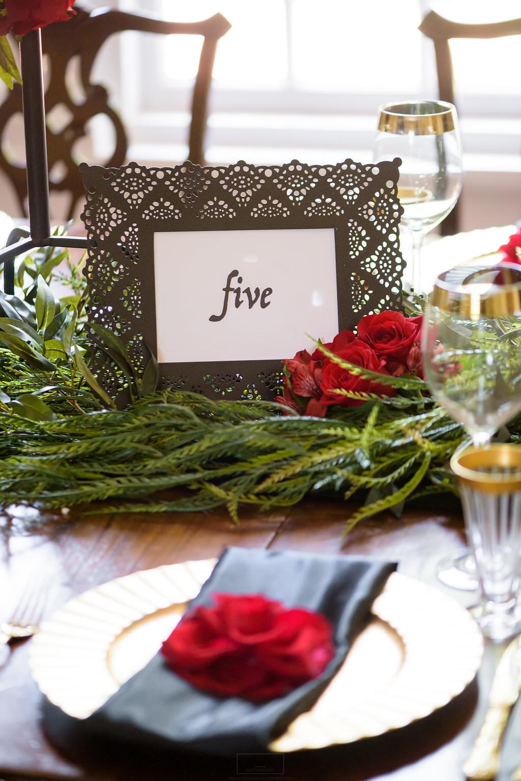 28 Spanish Rose Wedding Black Lace Greenery Red Rose.jpg