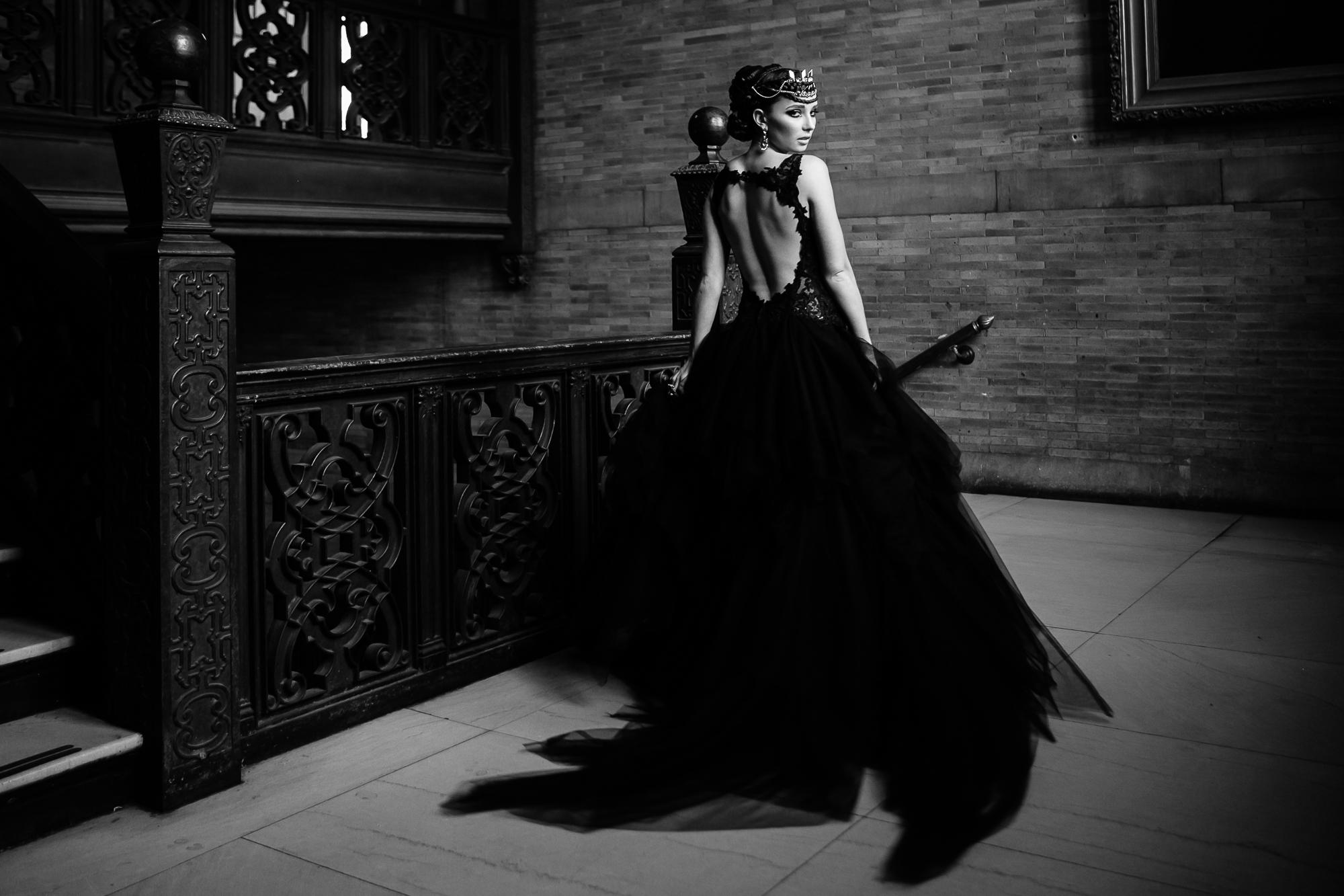 00 Black Lace Backless Wedding Dress Highline Hotel wedding Designer Aribella Events.jpg