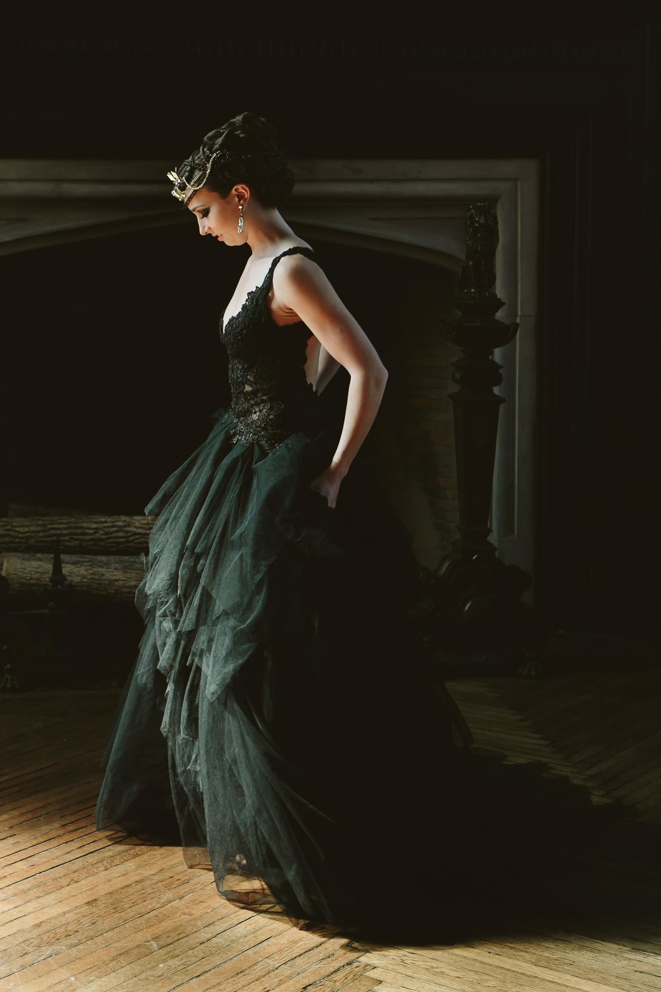 03 Black Lace Wedding Dress Highline Hotel Wedding Designer.jpg